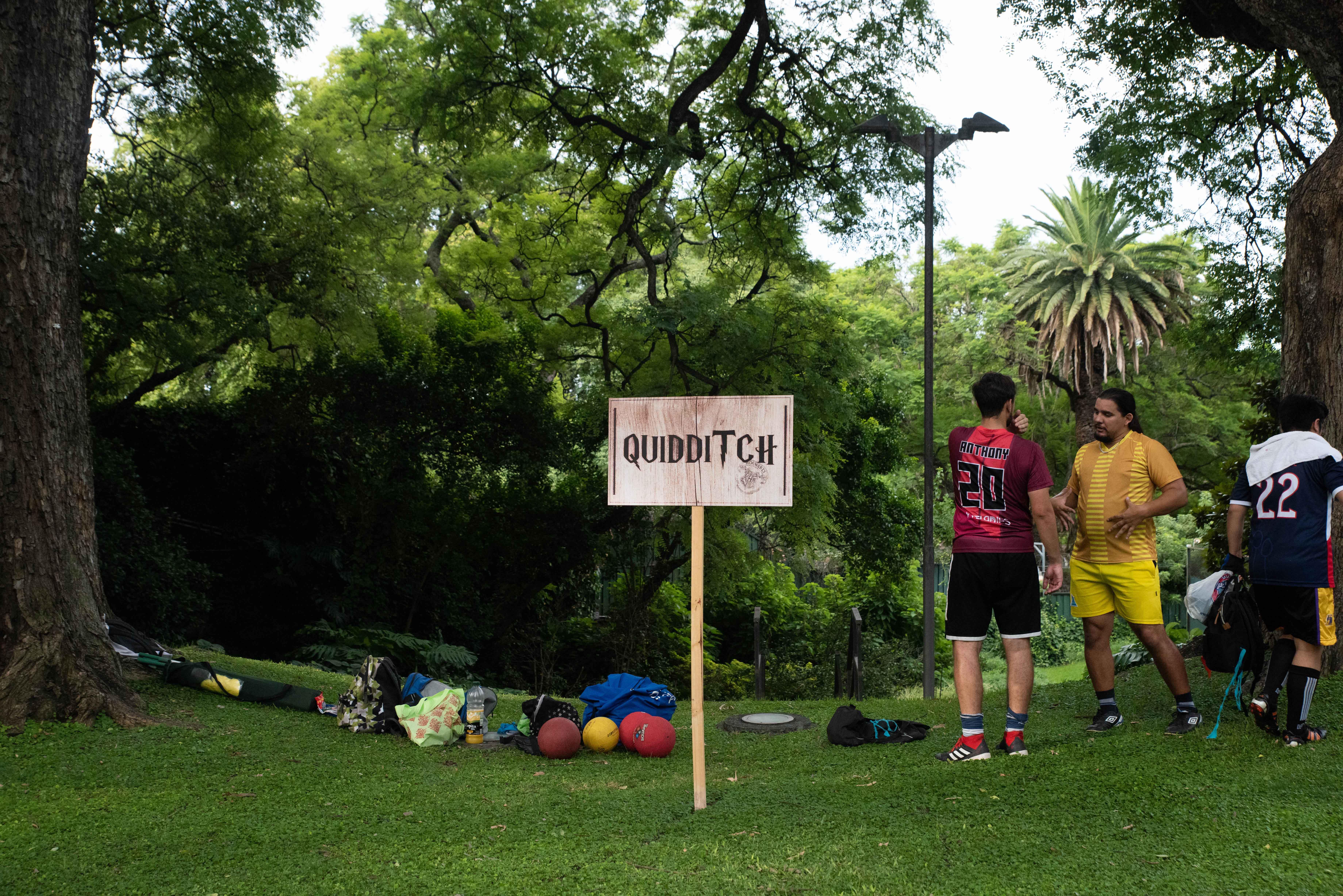 Los fans podían jugar al Quidditch, con miembros del equipo Dark Phoenix y Cumulus Nimbus