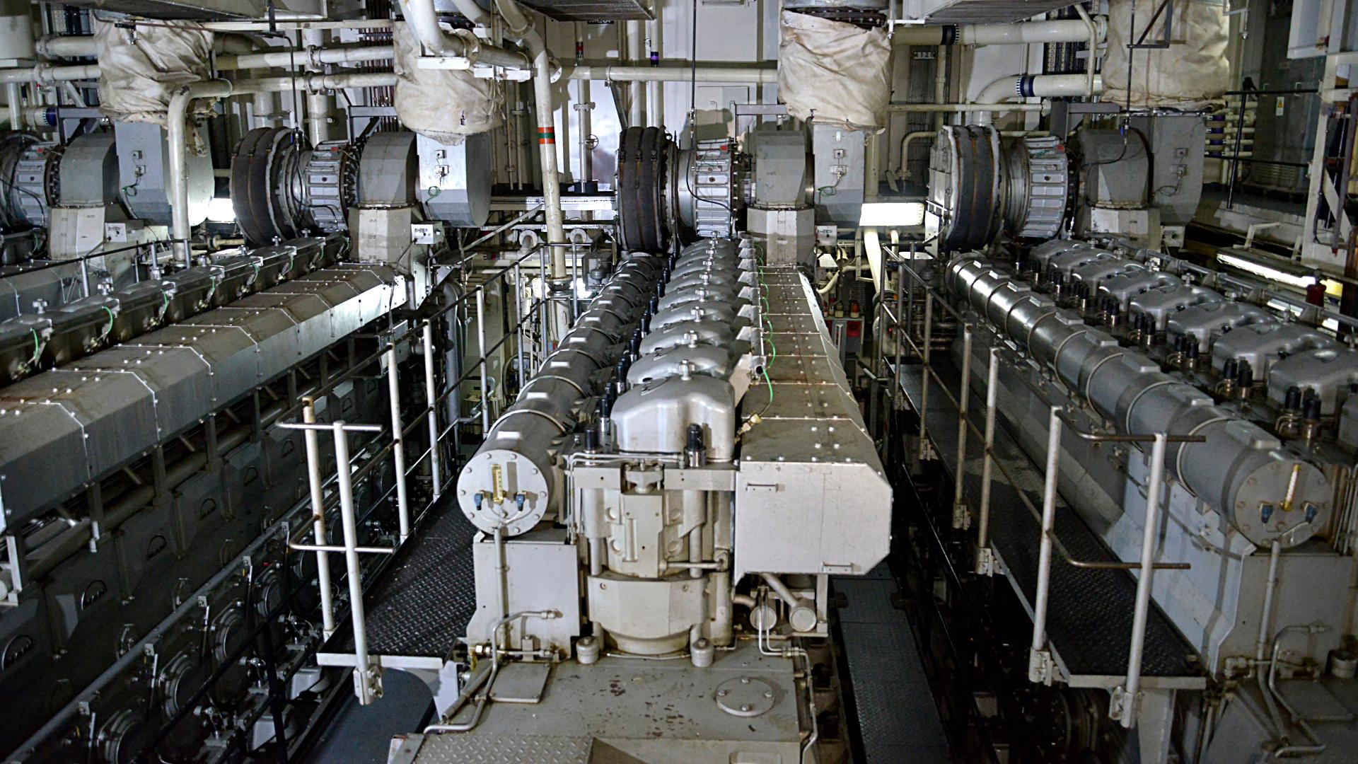 La imponente sala de máquinas