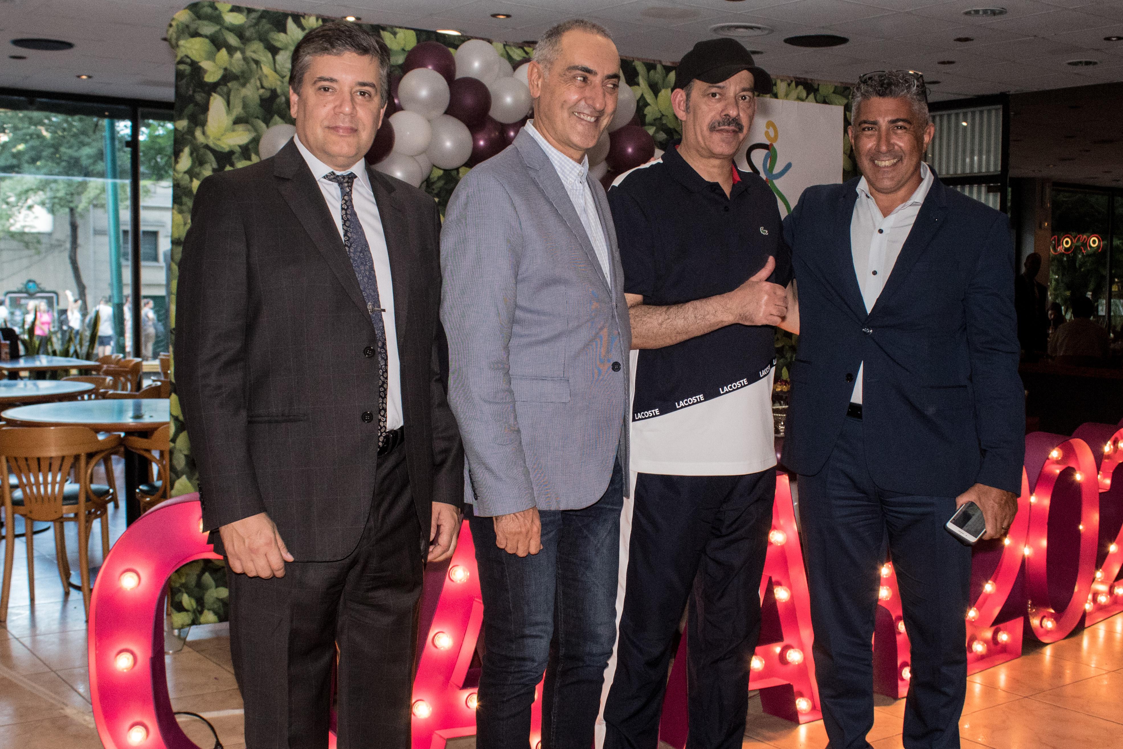 El embajador del Estado de Qatar, S.E. Battal M. Al Dosari, junto a Claudio Schiavoni, jefe de la División de Seguridad de Objetivos Diplomáticos; Alejandro Ñamandú, director de Seguridad Diplomática; y Marcelo Sena, jefe del Departamento de Asuntos Exteriores
