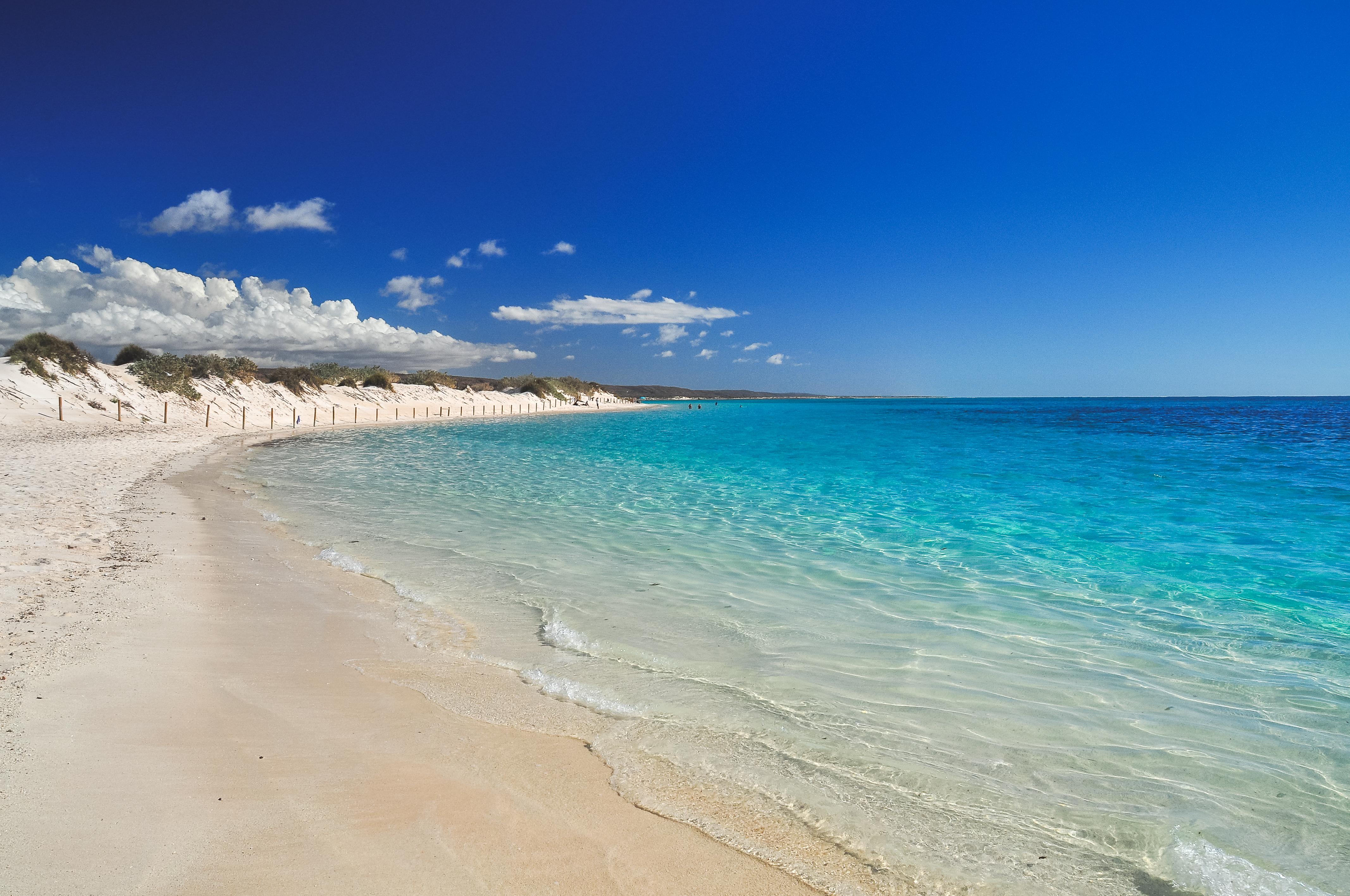 Ubicada cerca de la ciudad de Exmouth, se trata de la playa perfecta para todos los aficionados al snorkel. Si por algo destaca esta preciosa playa es por su proximidad a la barrera del arrecife de Ningaloo. De hecho, se encuentra a tan solo 100 metros. Más allá de su espectacular fondo, la playa destaca por su aspecto paradisíaco. Y es que estamos hablando de aguas cristalinas color turquesa y poco profundas, y arenas blancas que invitan al descanso