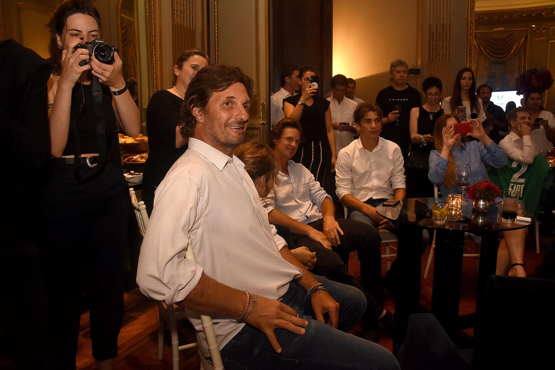 El ex polista, Bartolomé Castagnola durante la exclusiva presentación