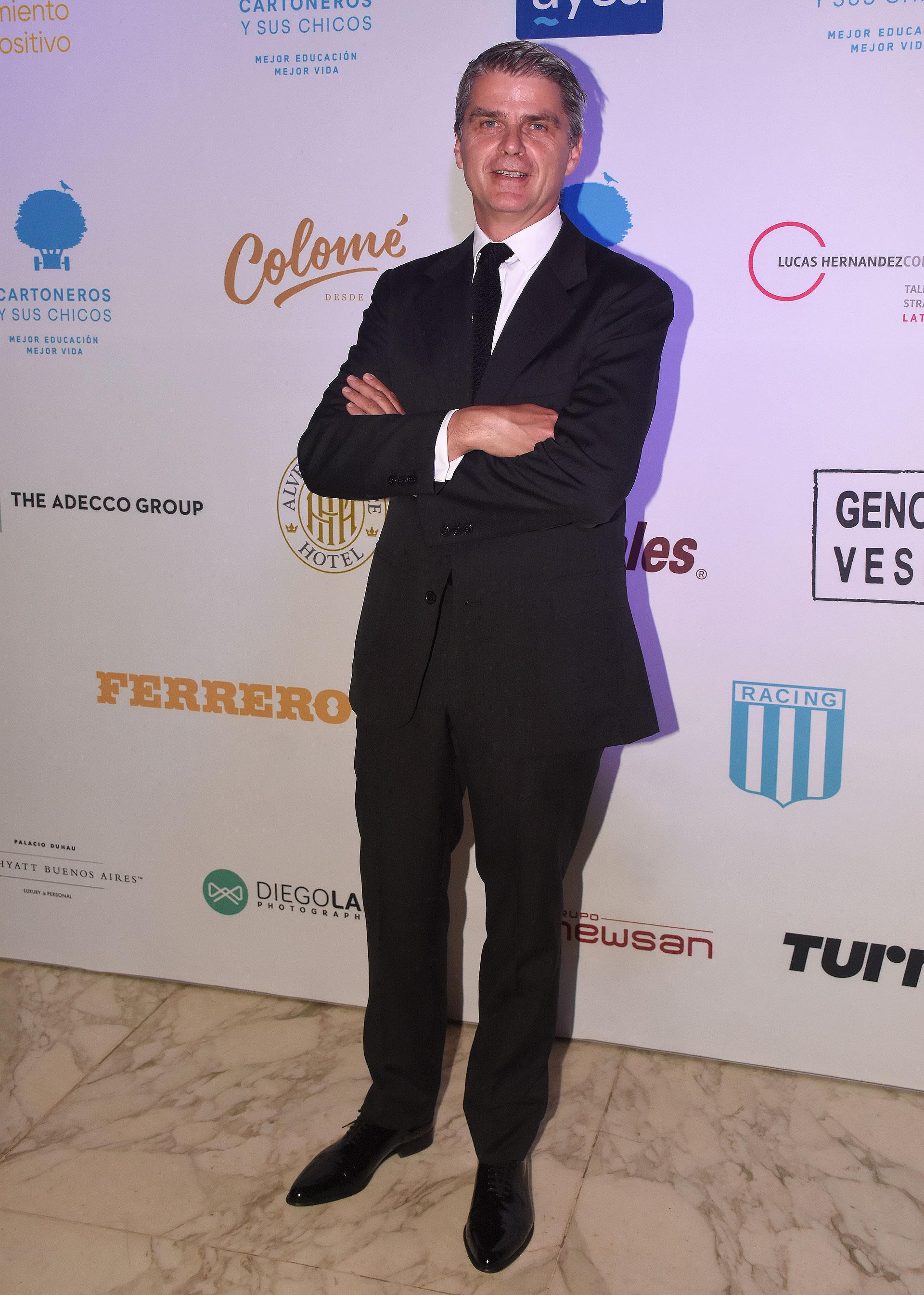 Hervé Pollet, presidente de la Fundación Cartoneros y sus Chicos