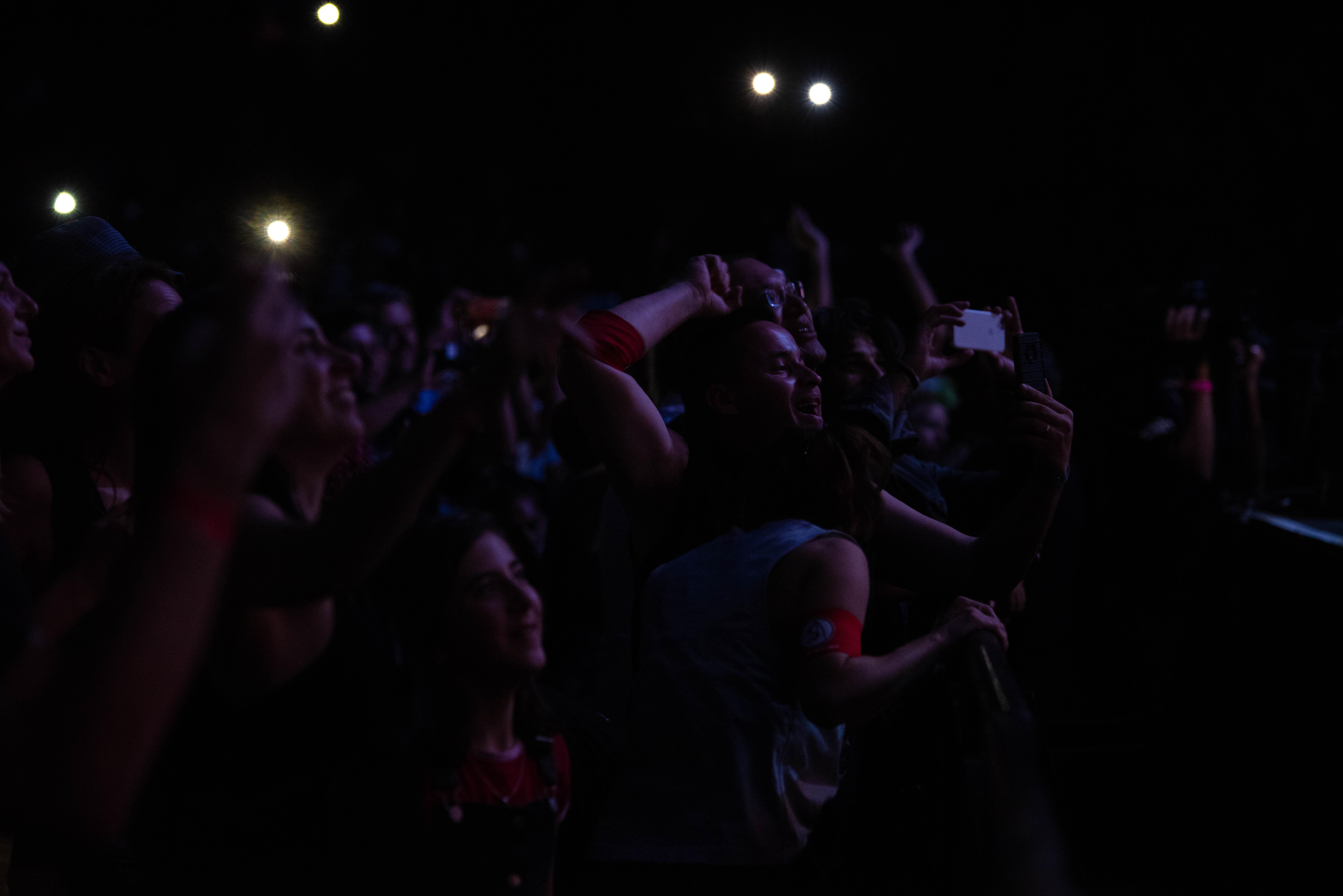 El público canto todos los temas de Charly García