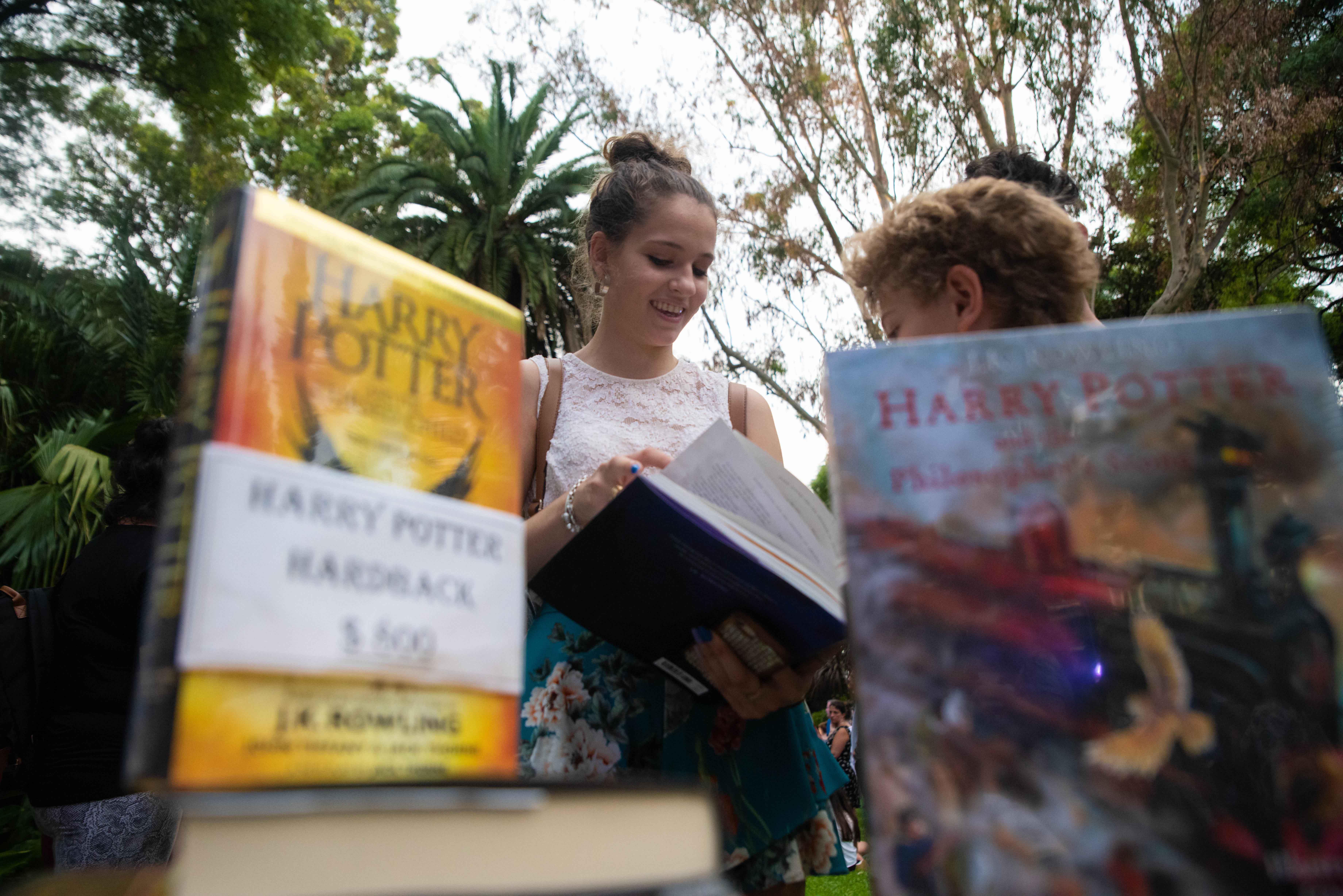 Además, en la jornada podían adquirir los libros con las últimas ediciones de JK Rowling