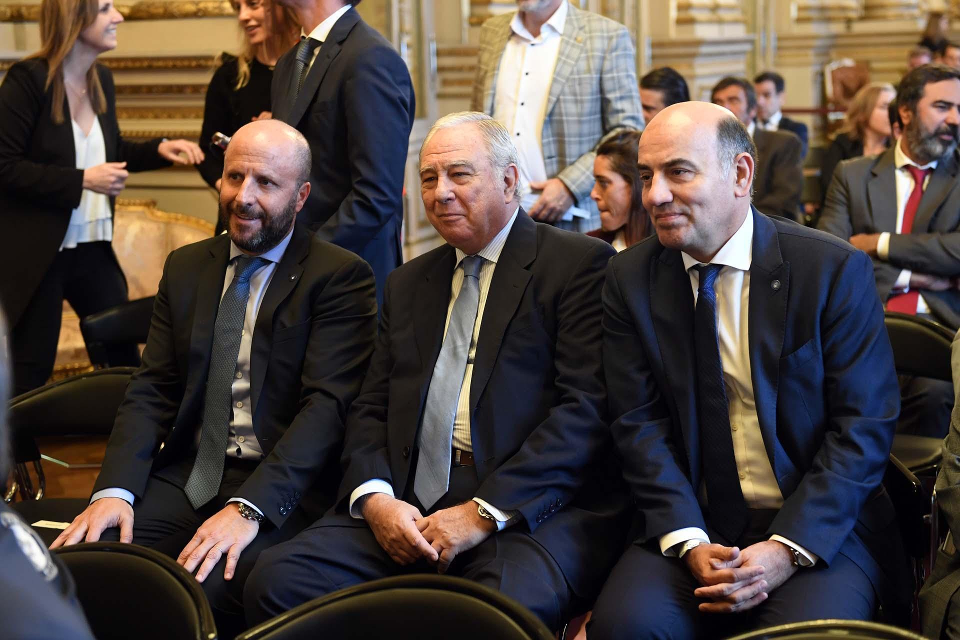 Los camaristas Mariano Borinsky, Eduardo Riggi y Diego Barroetaveña