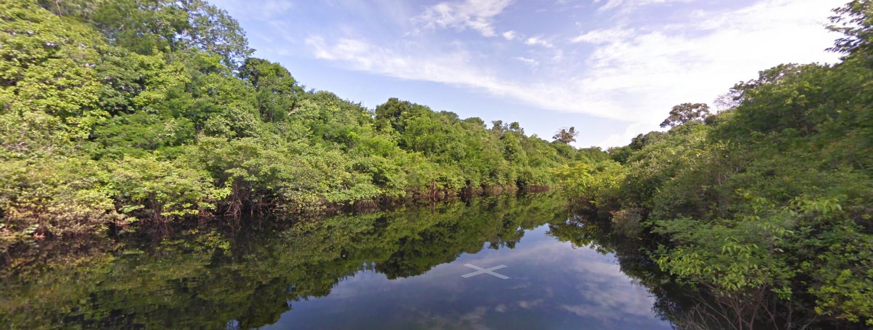 El Río Negro tiene 2250 km de longitud (captura de Street View).