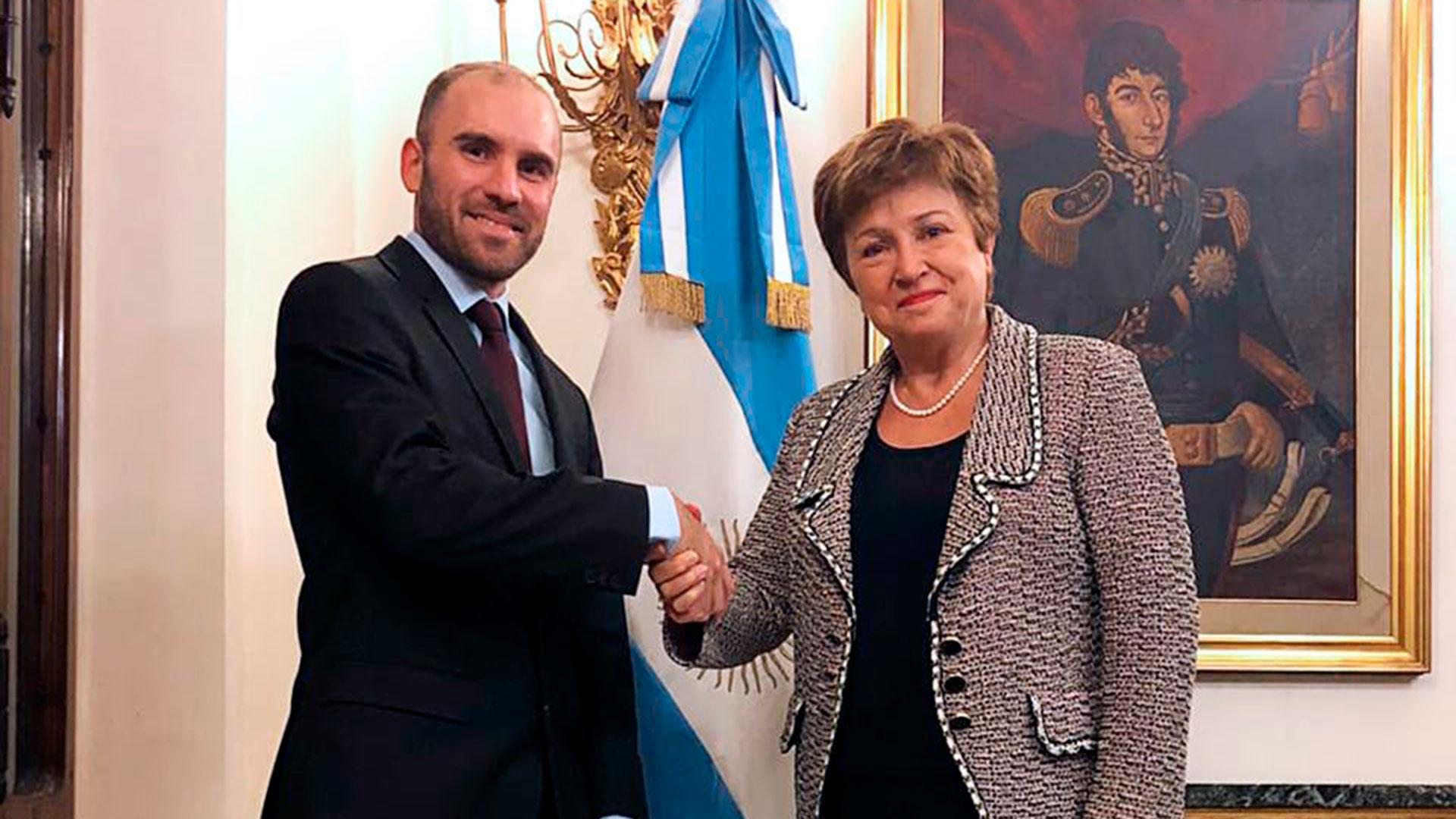 Martín Guzmán, tras la reunión con la titular del FMI, Kristalina ...