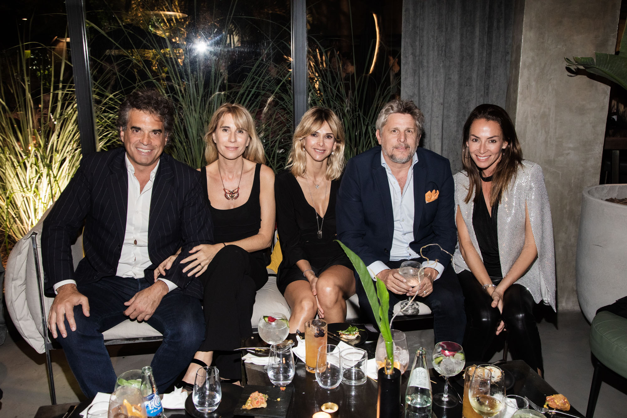 José Longinotti junto a Vicky Fariña, Papo Roca y Ana Pérez Bustos