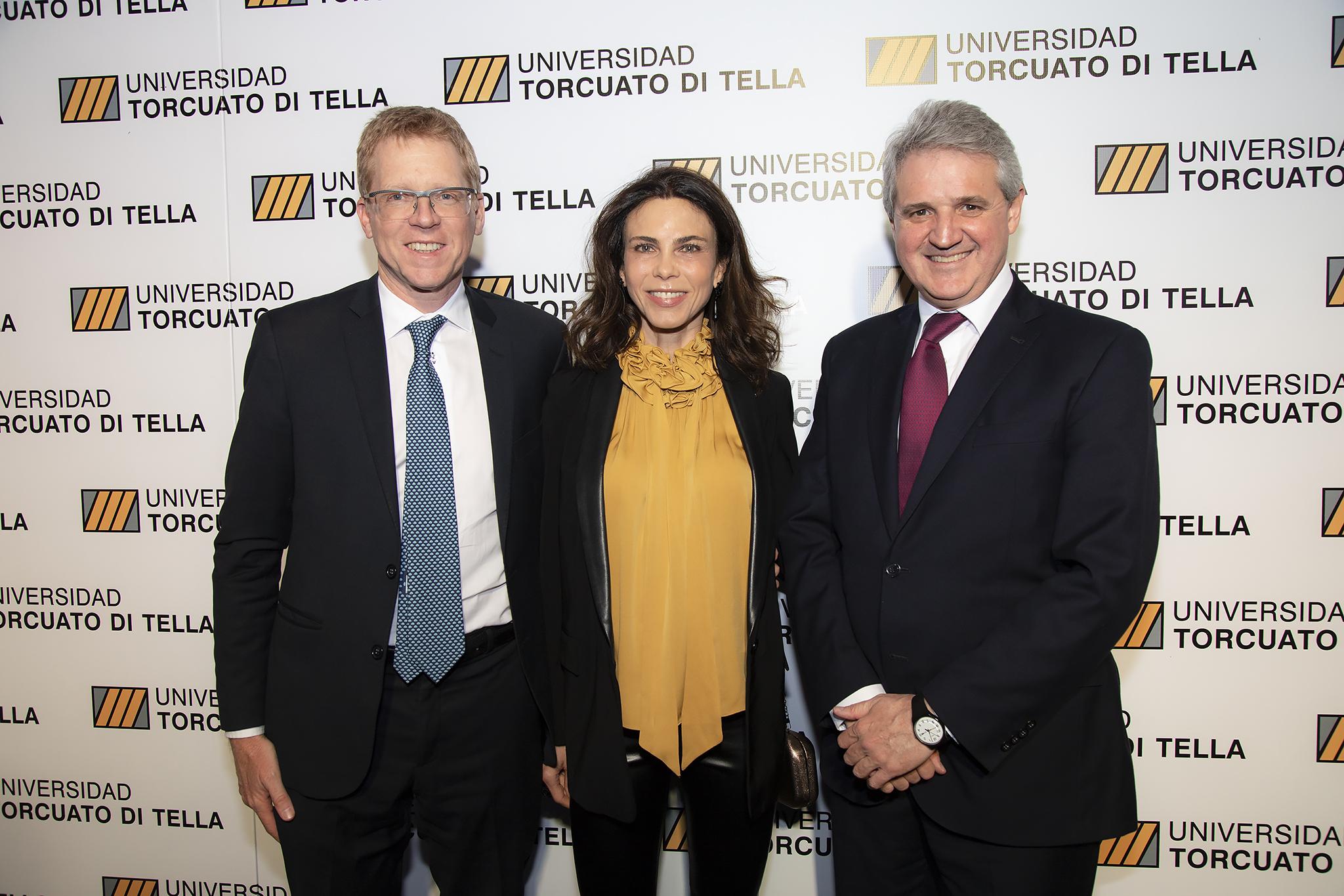 El presidente del Banco Provincia, Juan Curutchet, y su mujer