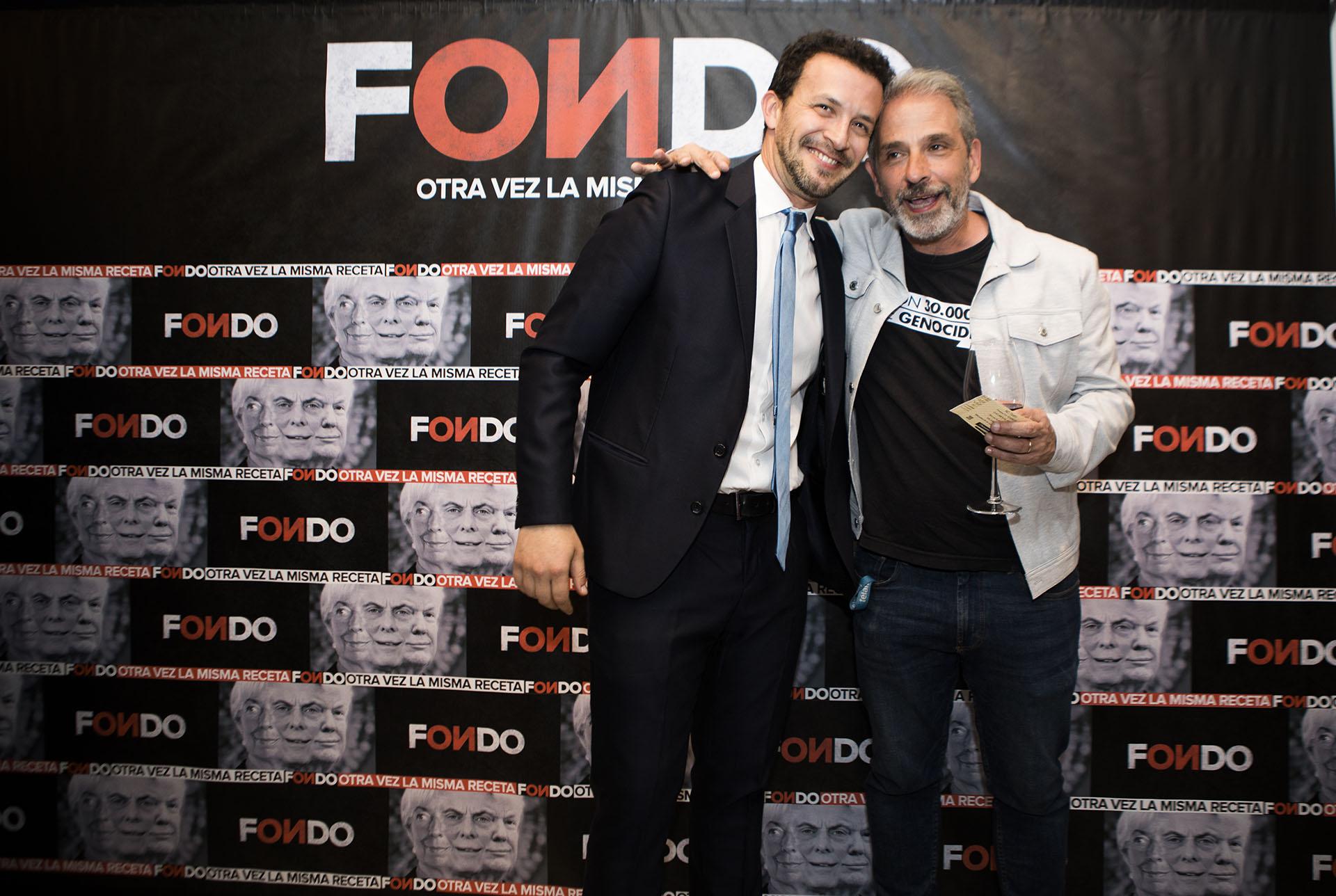 Diego Pietrafesa junto a Bercovich