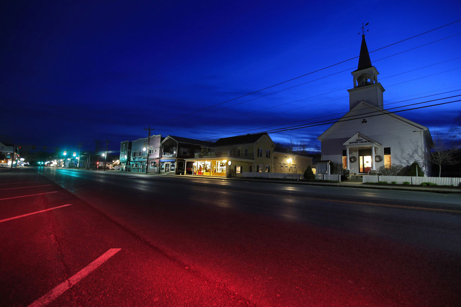 La Primera Iglesia Bautista de North Conway (AP Photo / Robert F. Bukaty)