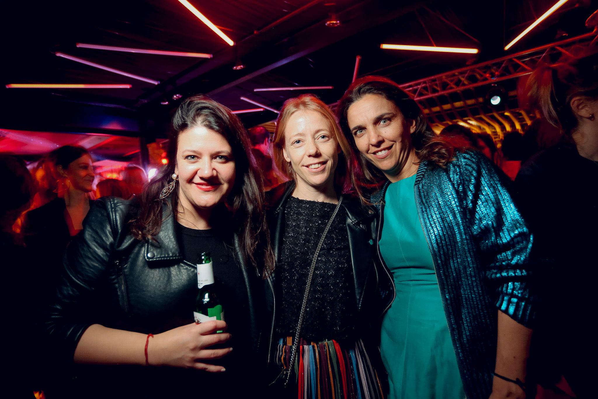 Daniela Iramain, Amalia Curutchet y Violeta Quesada