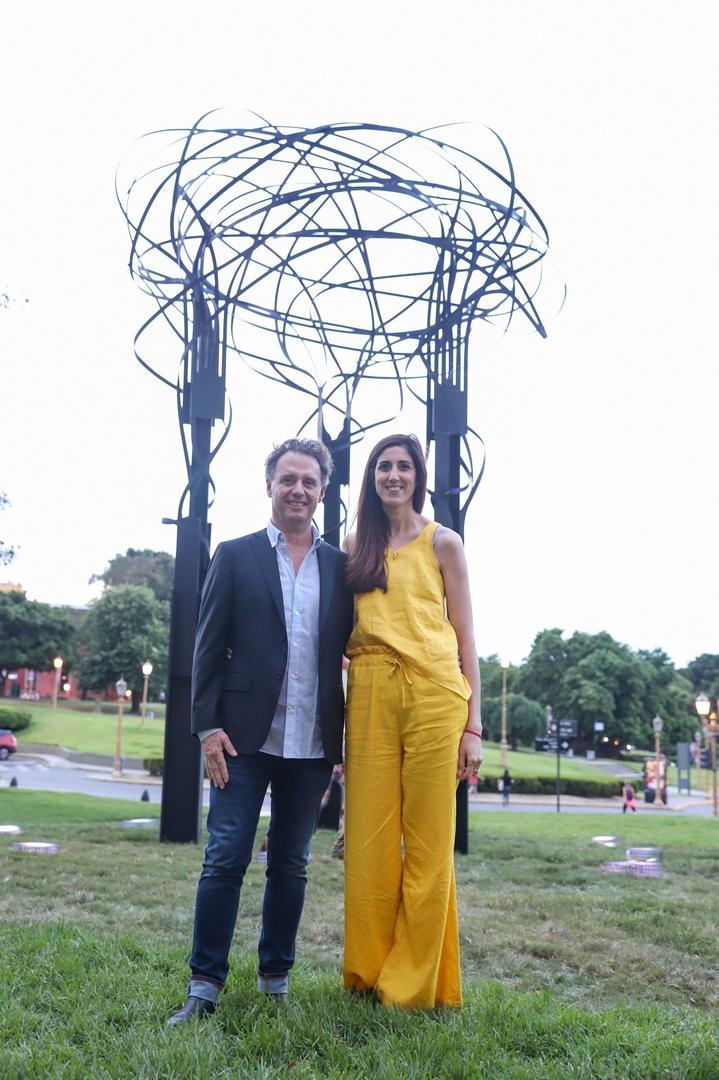 Pablo Reinoso y Victoria Hassan, jefa de Gabinete de ministerio de Desarrollo Económico
