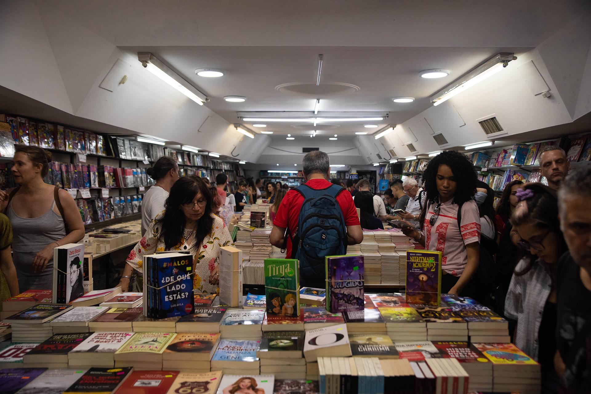 Una de las librerías que participó del evento.