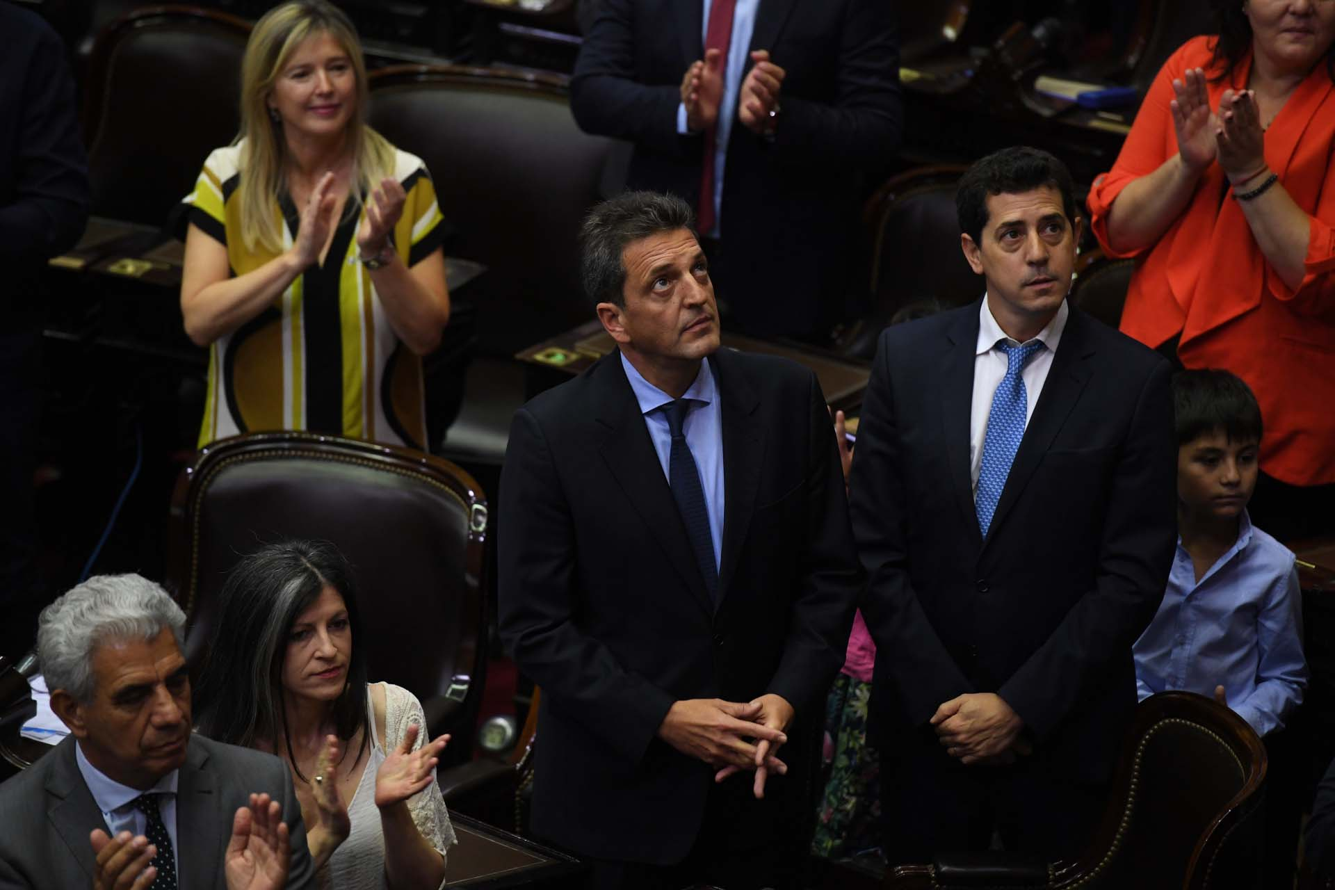 Sergio Massa, presidente de la Cámara de Diputados, junto a
