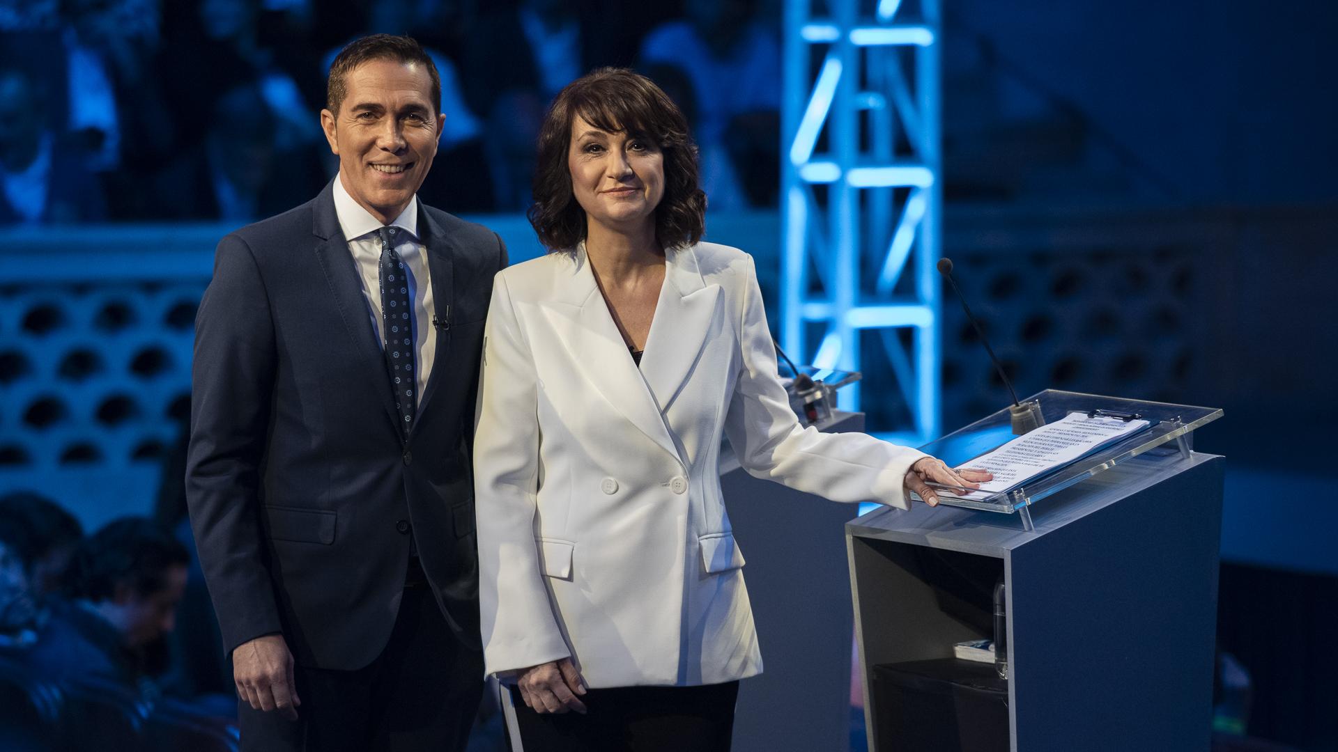 Los periodistas Rodolfo Barili y María Laura Santillán