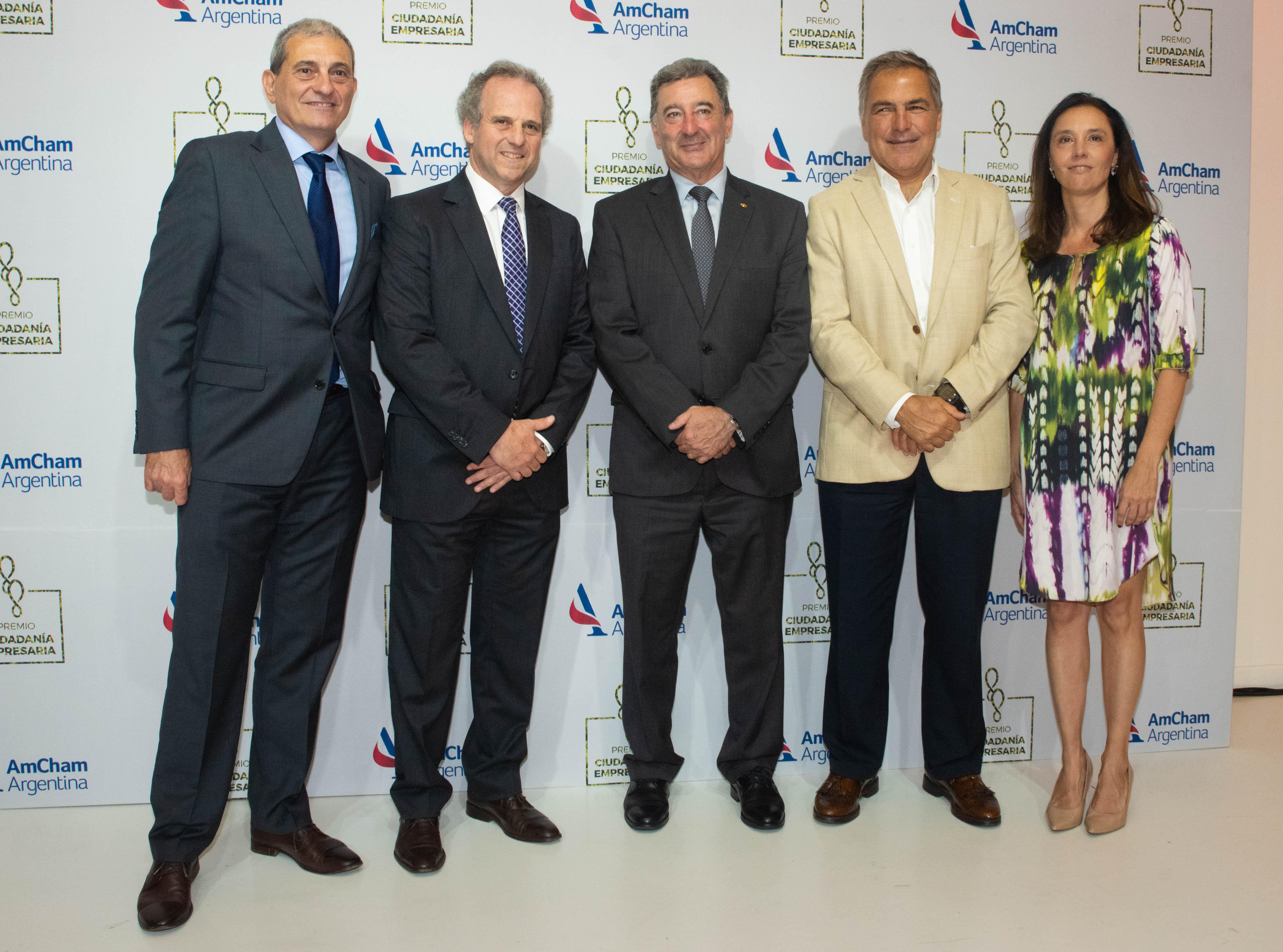 Daniel Herrero, presidente de Toyota Argentina, y Manuel Aguirre, ex presidente de AmCham y actual director de Aleph