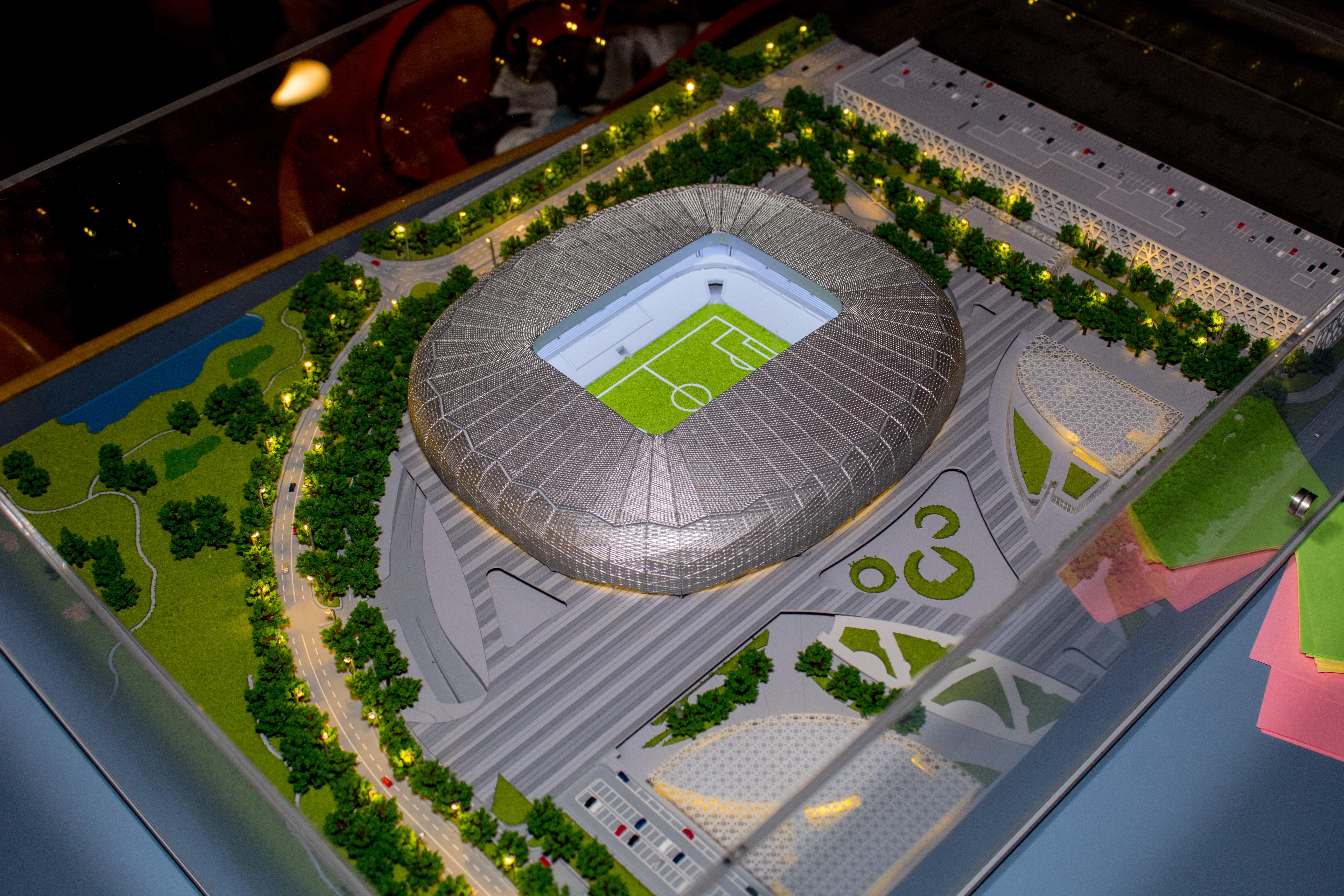 La maqueta del estadio