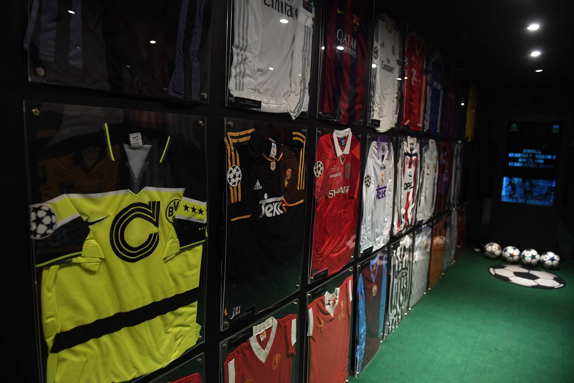 Camisetas, en su gran mayoría, utilizadas por equipos europeos en Champions League (Maximiliano Luna)