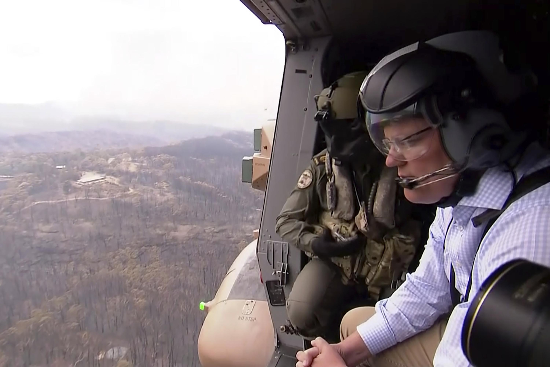 El premier Scott Morrison pidió disculpas días atrás por irse de vacaciones en plena crisis