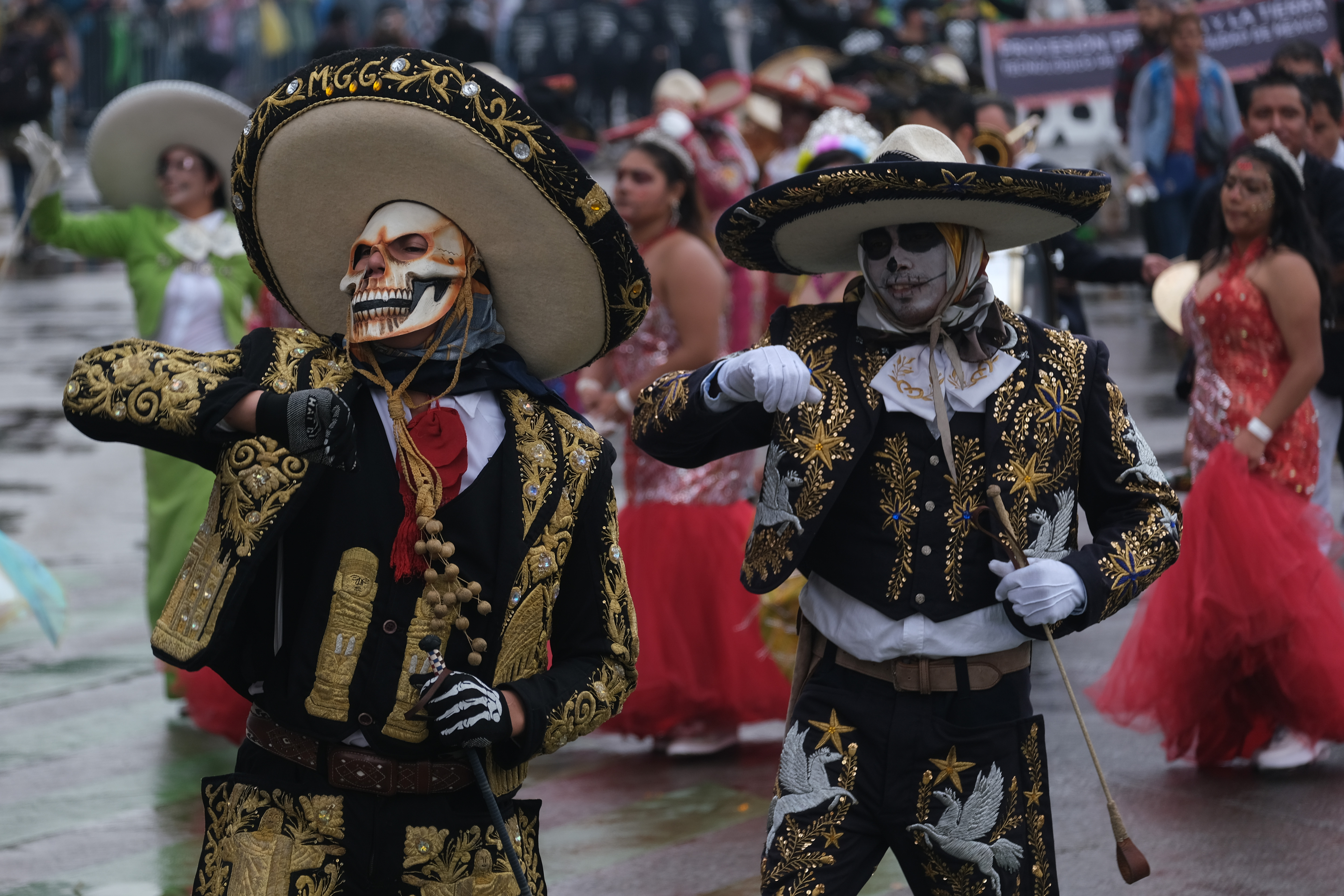 Los mariachis también participaron en las festividades (Foto: Graciela López/Cuartoscuro)