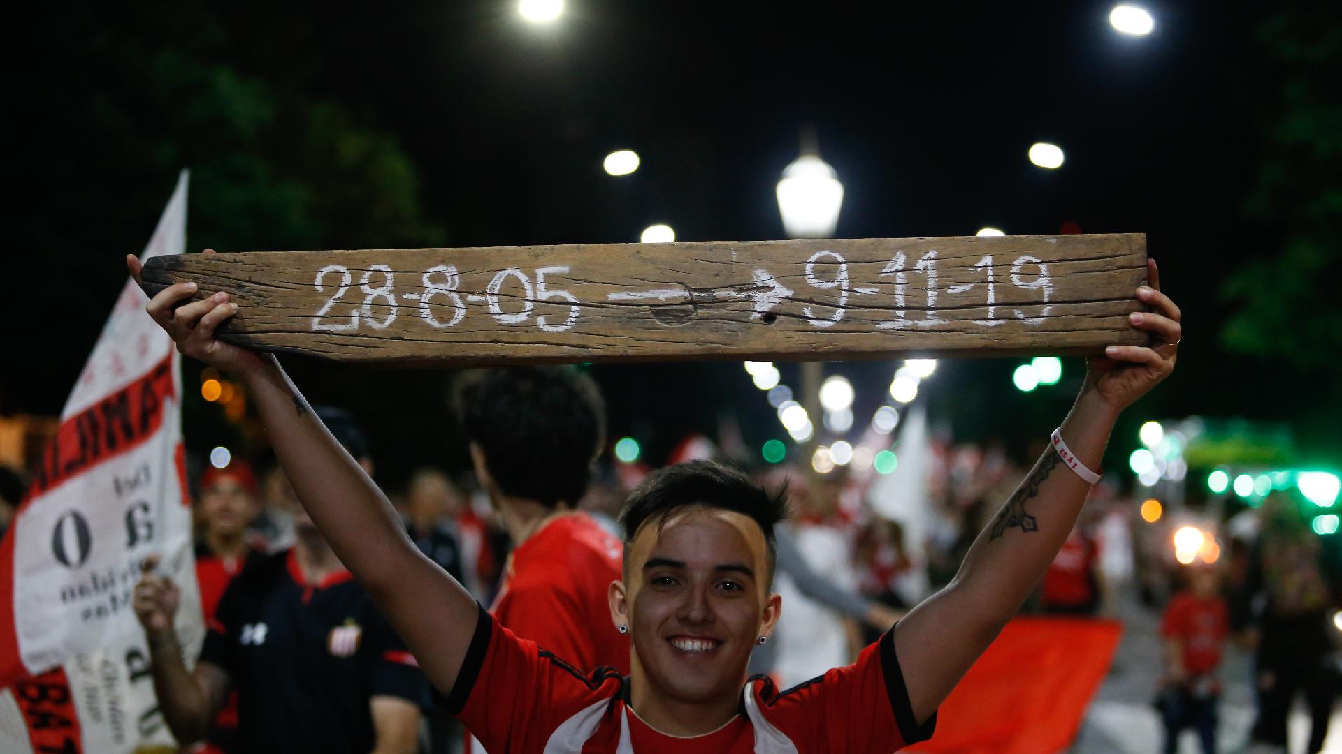 El 9 de noviembre de 2019, el día que quedará en la memoria de los hinchas de Estudiantes en su regreso a 1 y 57 (Nicolás Aboaf)
