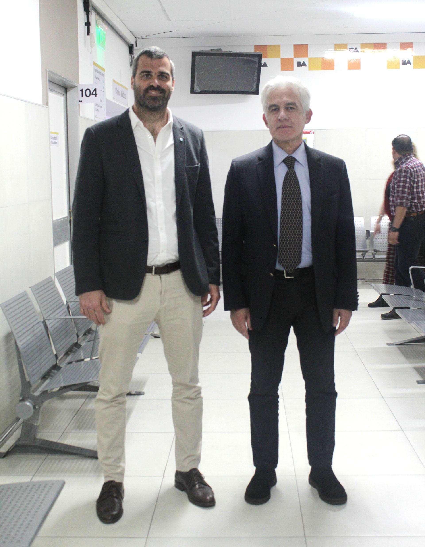 Nicolás Montavio, Subsecretario administrativo de Salud, y Aldo Caridi, Subsecretario de Atención Hospitalaria