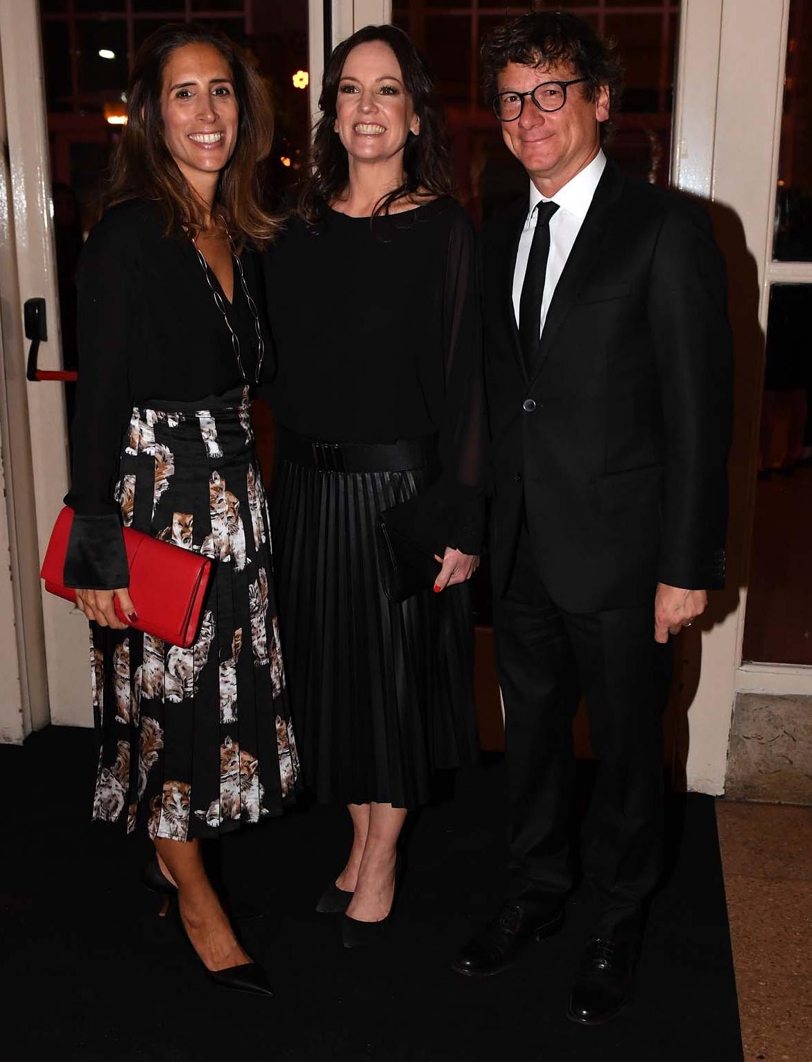 La ministra de Desarrollo Social, Carolina Stanley, junto al presidente de HSBC Argentina, Gabriel Martino, y su mujer Florencia Perotti