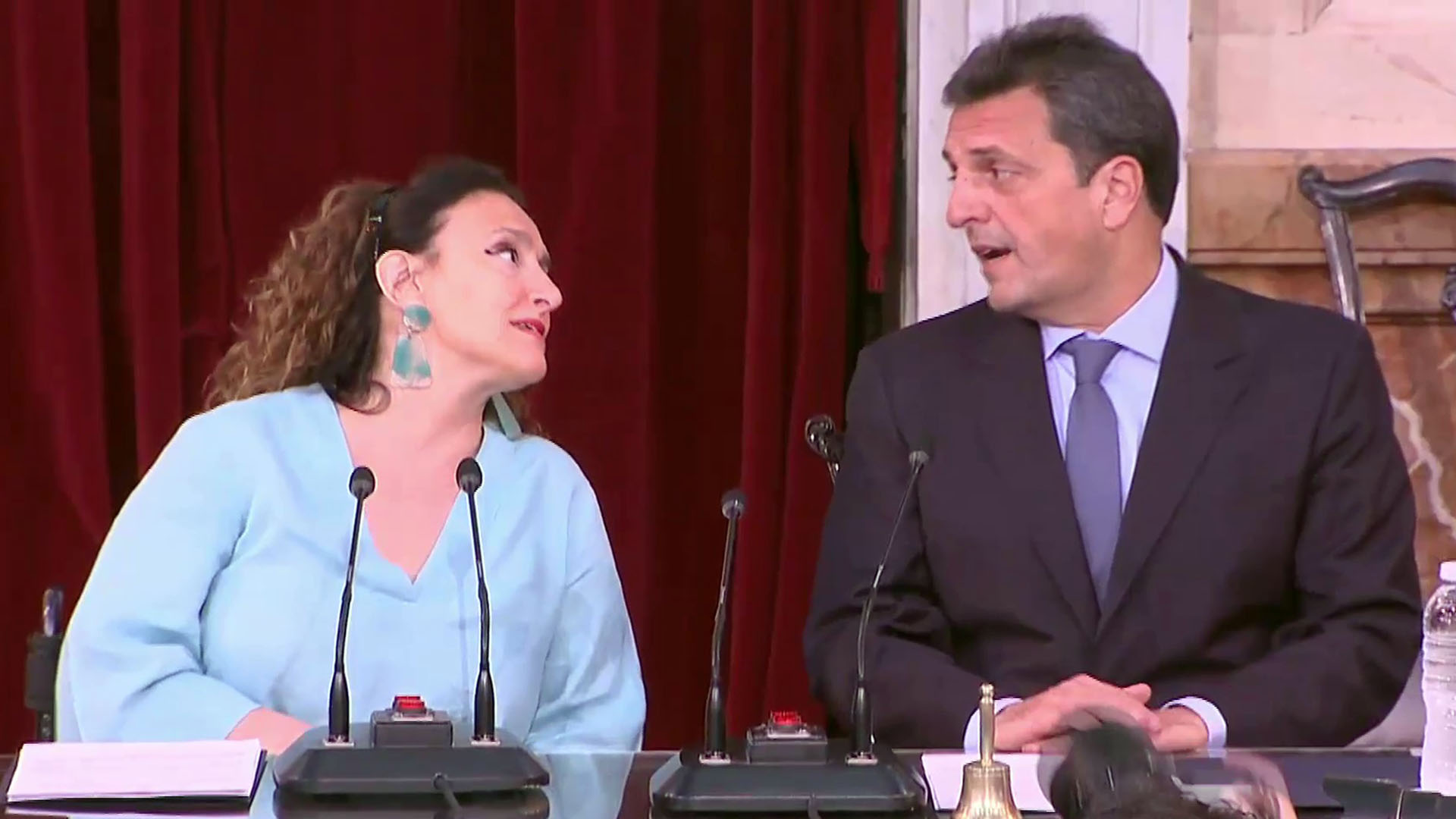 Gabriela Michetti y Sergio Massa, flamante titular de la Cámara baja