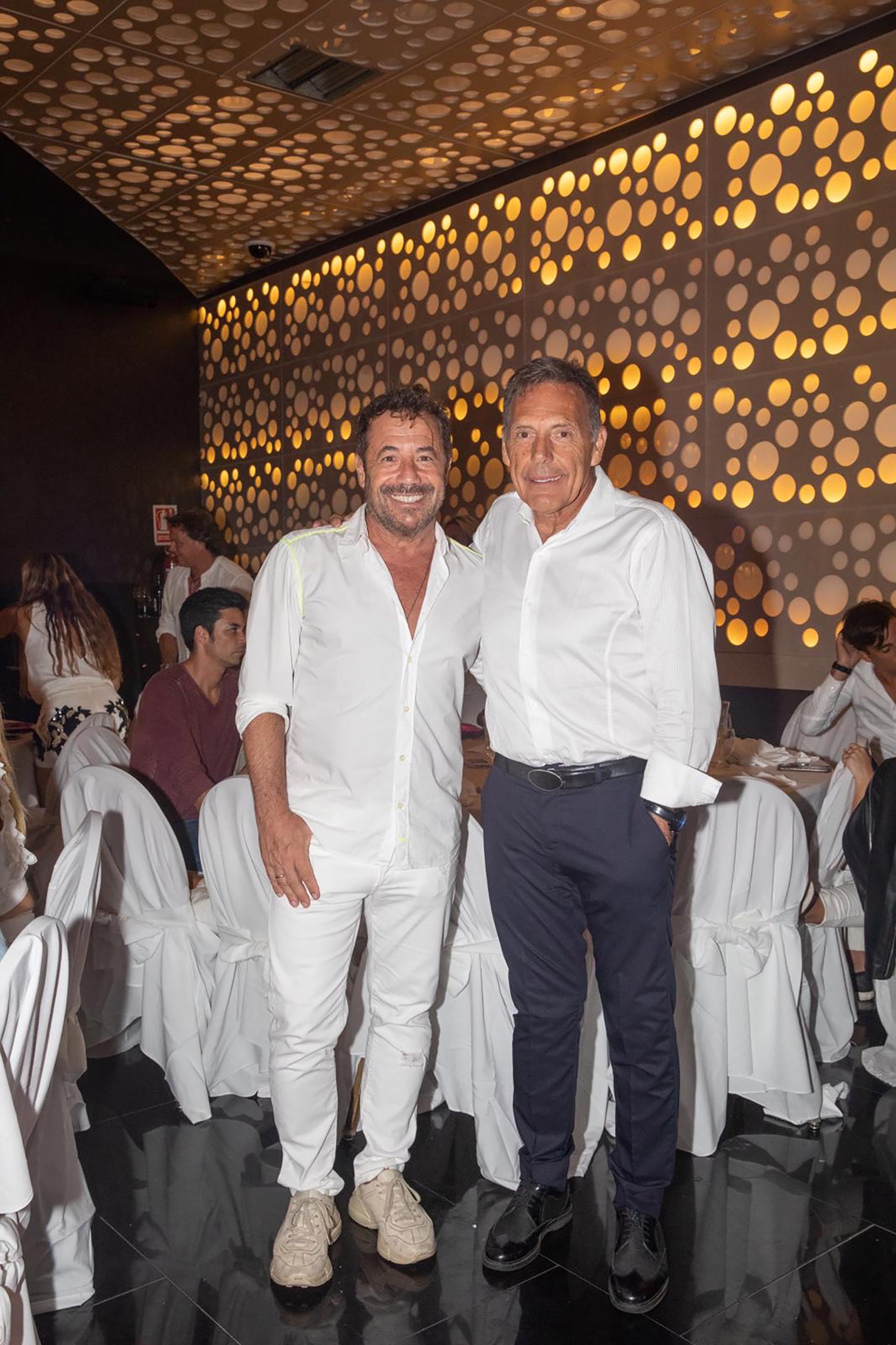 Ricky Sarkany y Miguel Ángel Russo en la gran fiesta de Enjoy Punta del Este