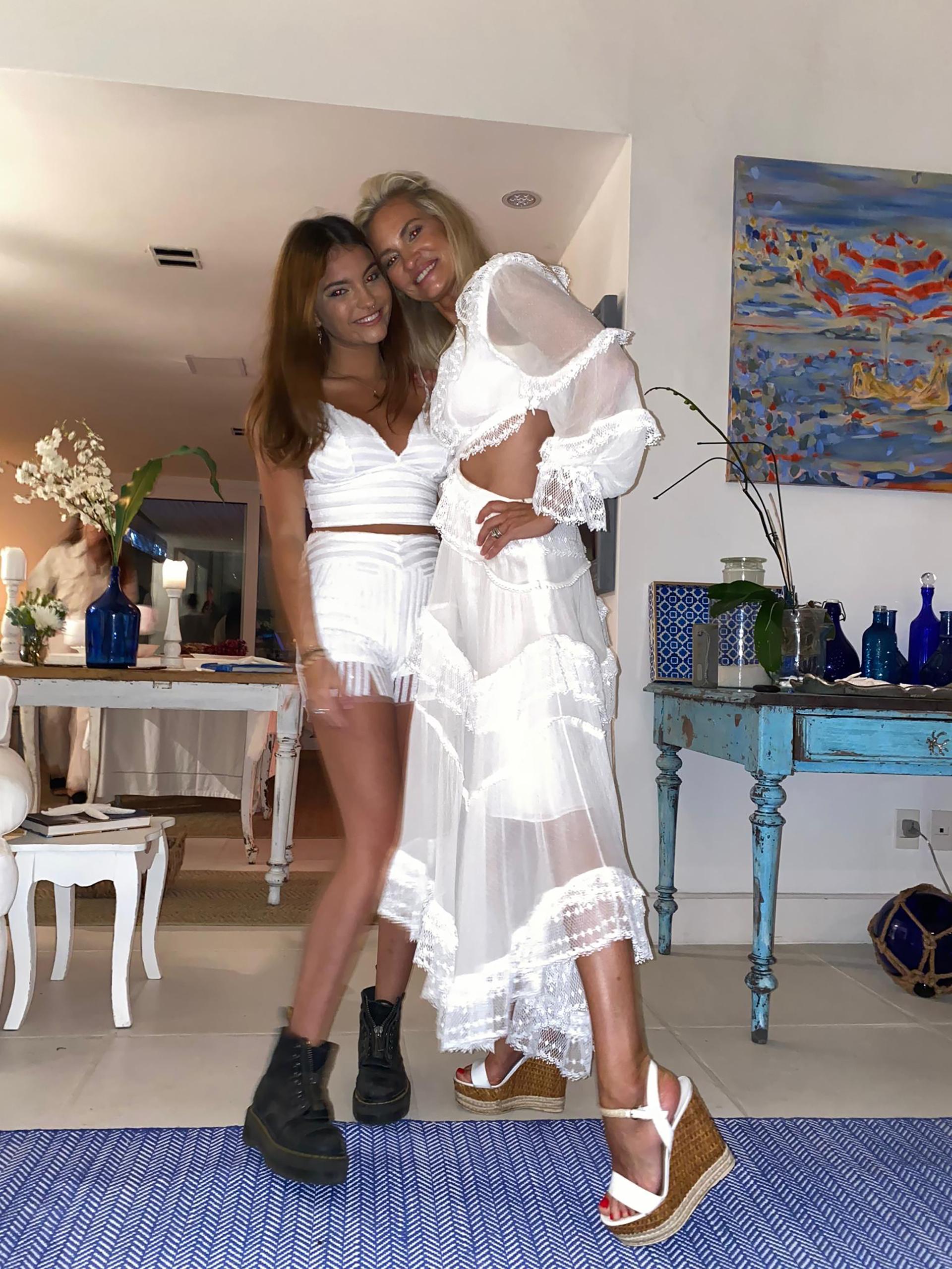 Lily Sciorra y su hija Abril