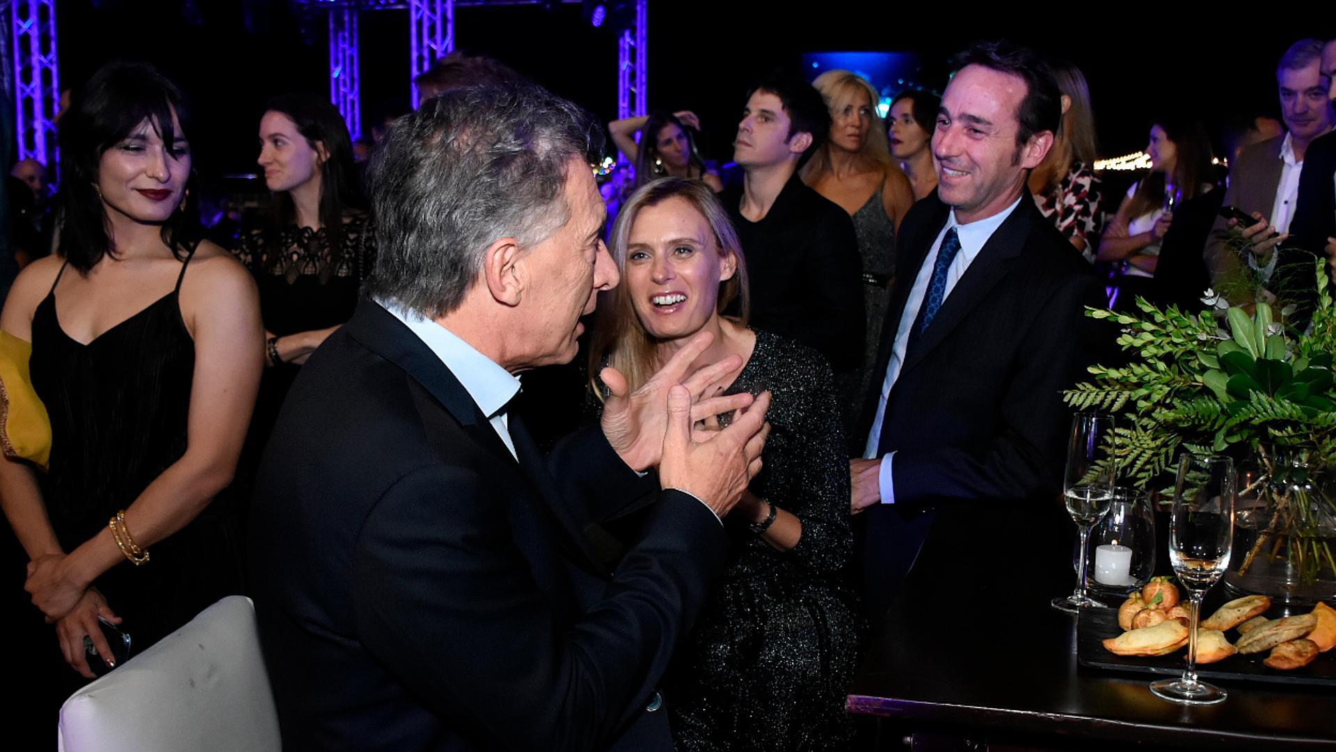 Macri saludando a Marcos Galperín
