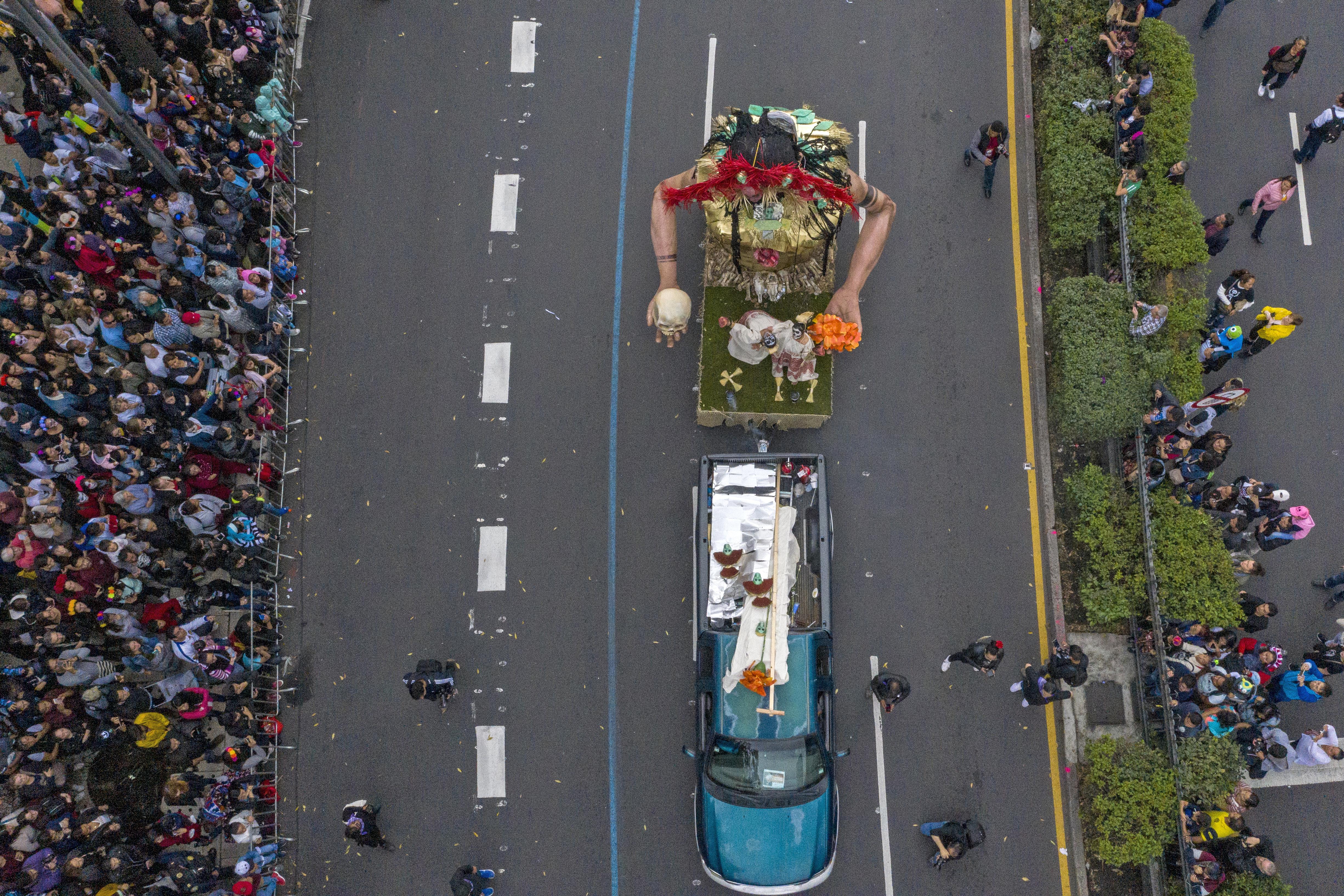 La vista aérea de Paseo de la Reforma (Foto: Pedro Pardo/AFP)
