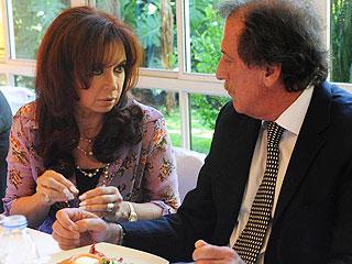 El empresario junto a la Vicepresidente, Cristina Kirchner