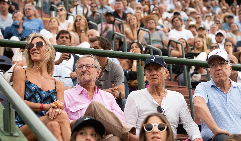 Gabriela Castellani, Cristiano Rattazzi, Adolfo Cambiaso (padre) y Guillermo Nielsen