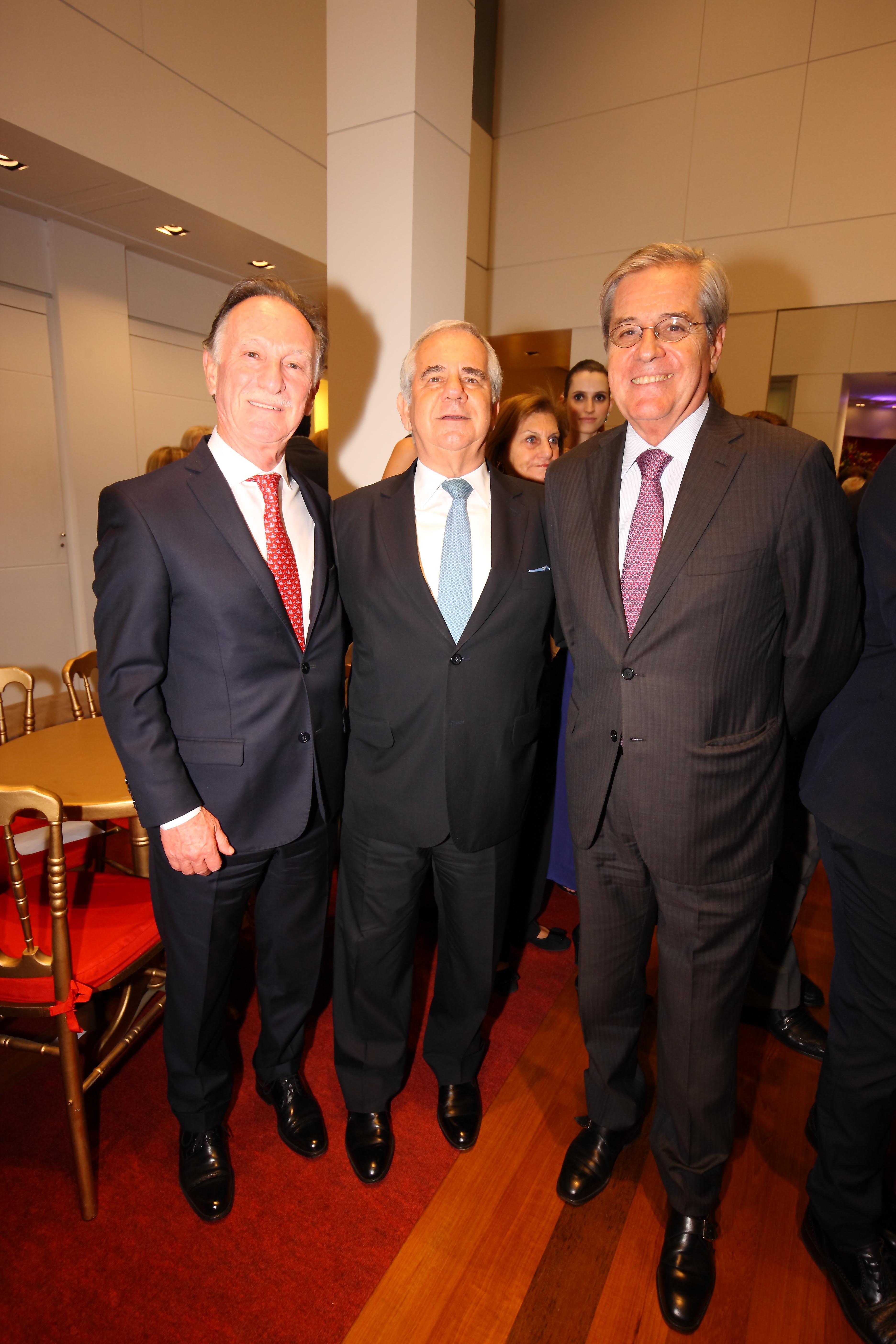 El empresario Gustavo Weiss, el cardiólogo Pablo Boskis y el abogado Luis Alberto Erize