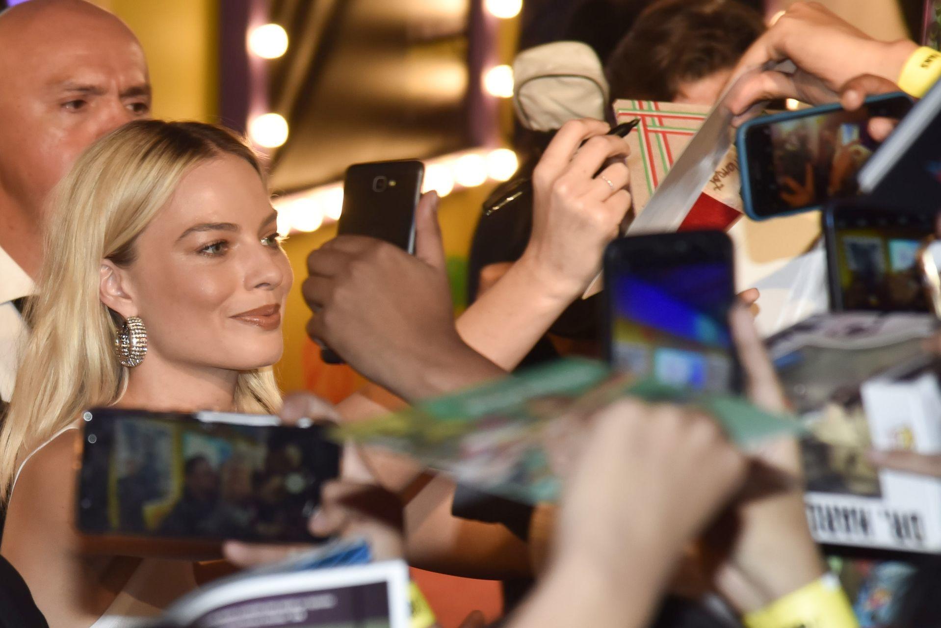 Margot Robbie, a la llegada de la premiere de