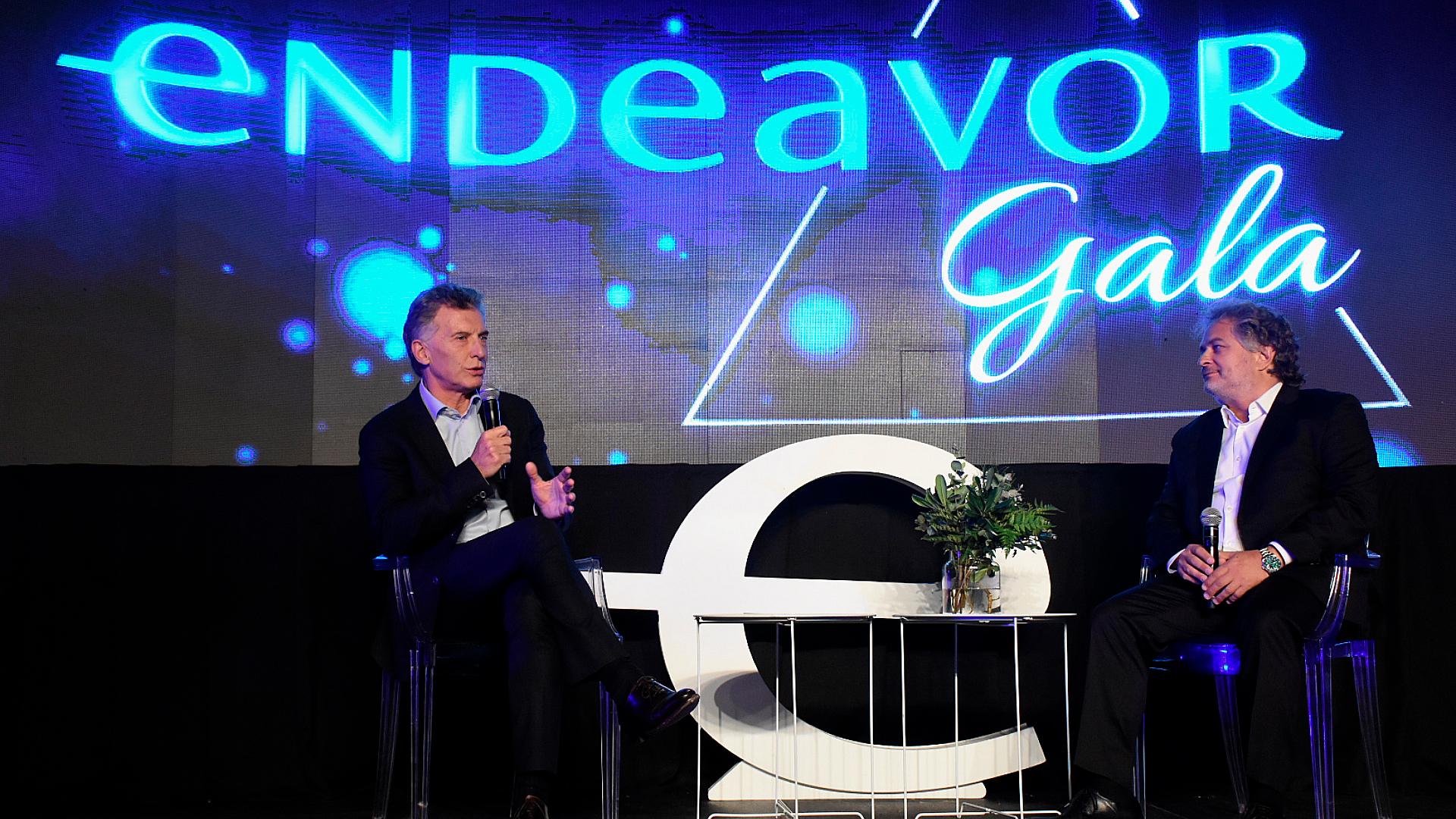 El presidente Mauricio Macri estuvo presente en la Gala Endeavor 2019: