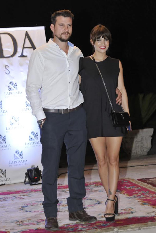 Agustina Cherri y su pareja, Tomás