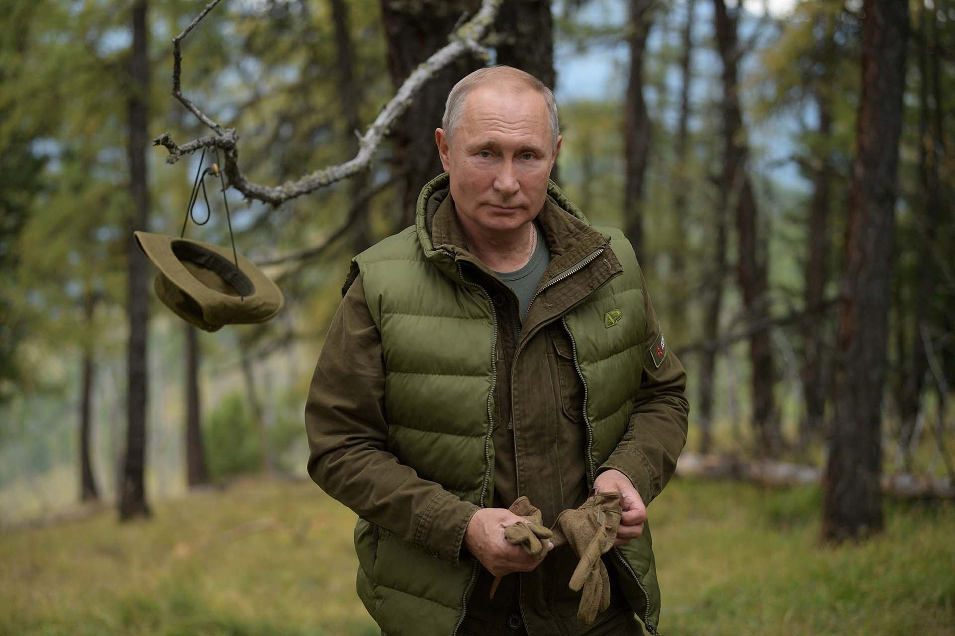Vladimir Putin recorrió la ecorregión de taiga de Siberia Oriental