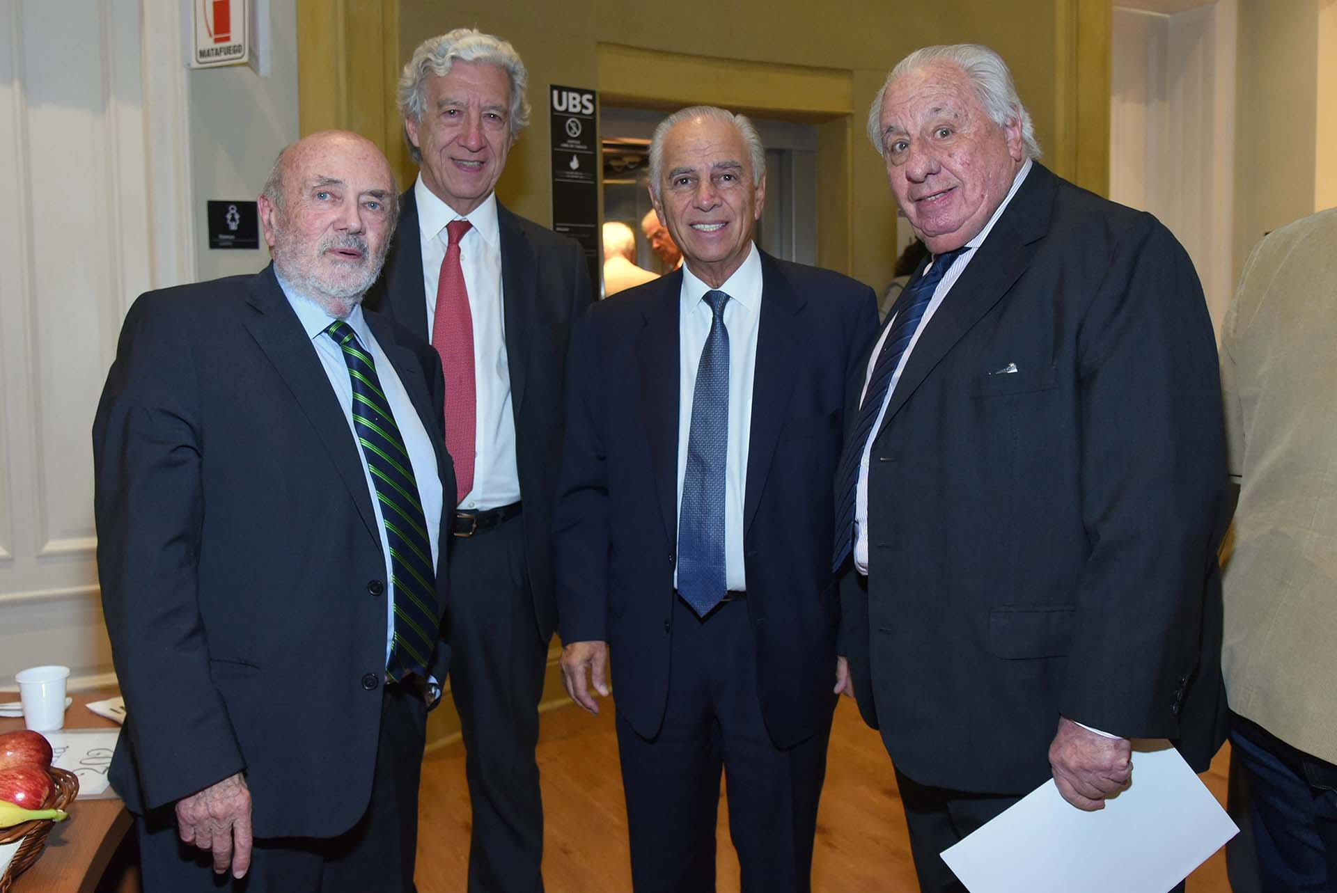 Alberto Grimoldi, Jaime Campos, Alejandro Bulgheroni y Eduardo De Zavalía
