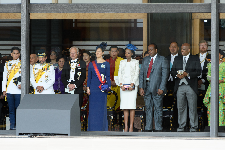 Dignatarios extranjeros y representantes del gobierno asisten a la ceremonia de entronización (AFP)