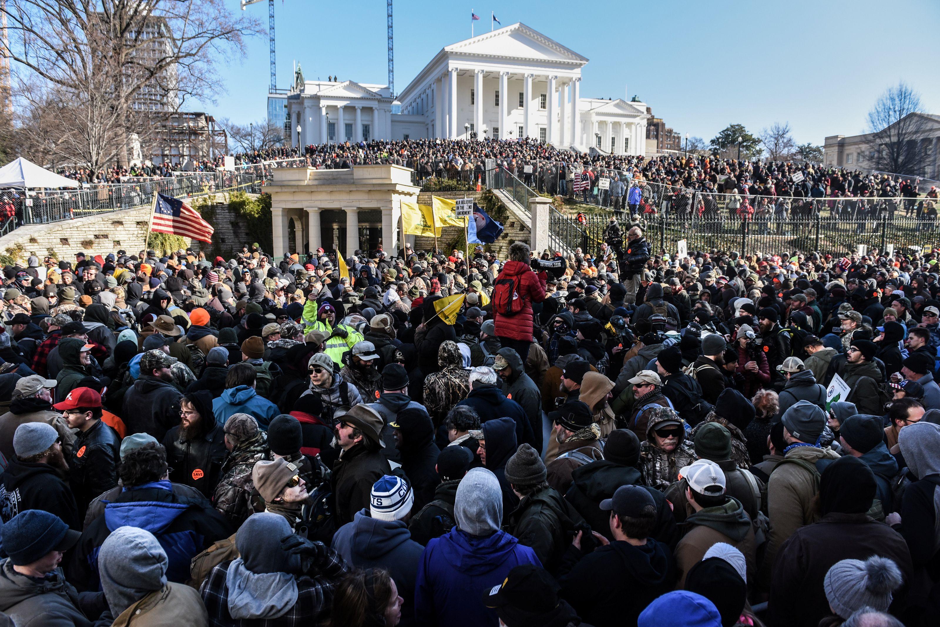 La manifestación atrajo a miles de entusiastas de las armas (REUTERS/Stephanie Keith)