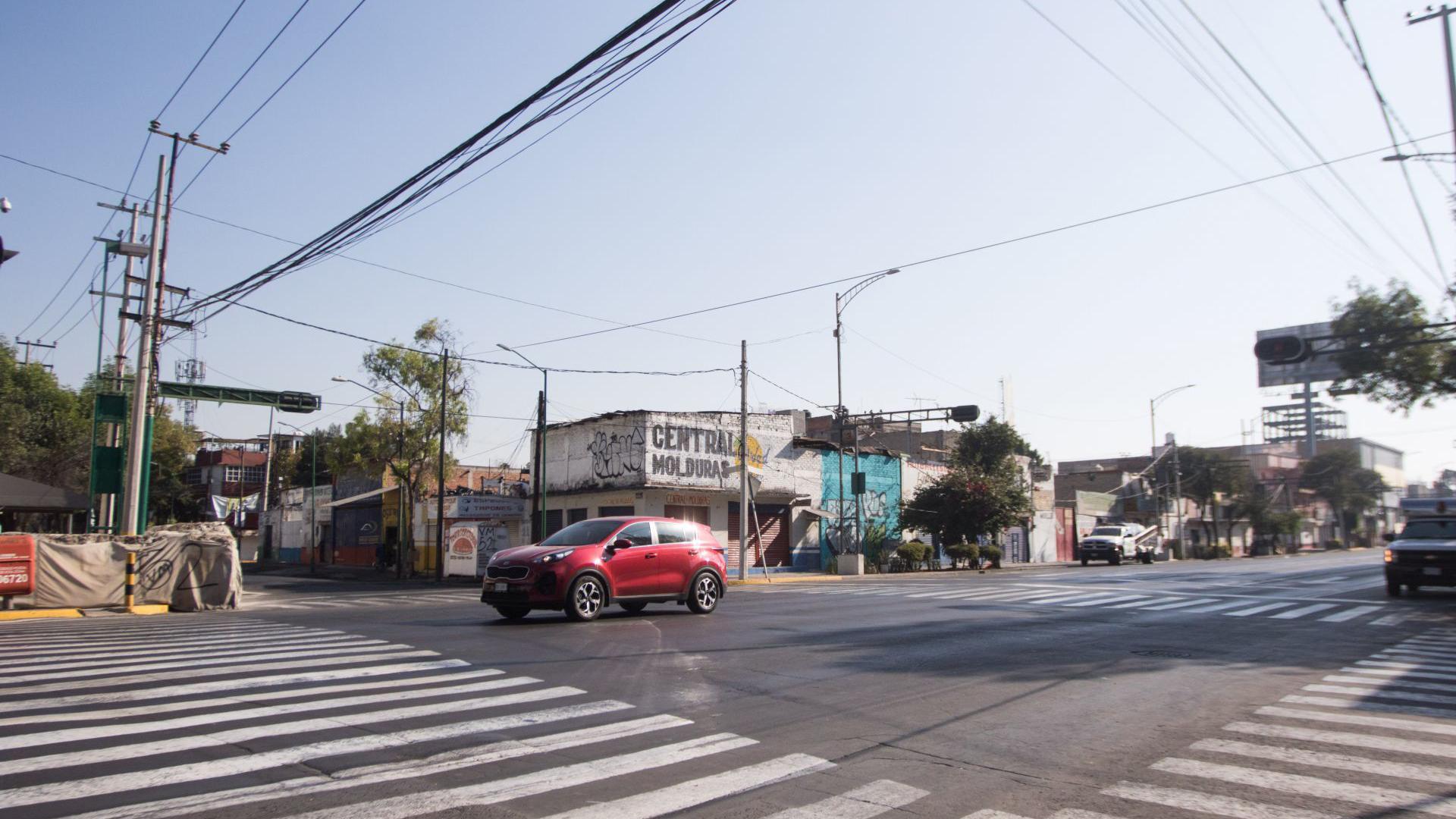 Calle vacía, Eje 3 sur en la Ciudad de México (Foto: Cuartoscuro)