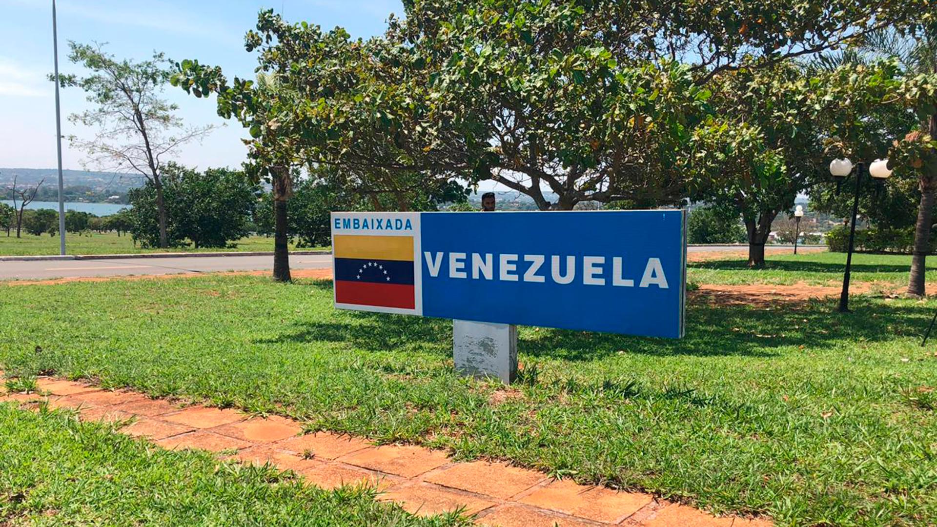 La entrada de la sede diplomática venezolana en Brasilia