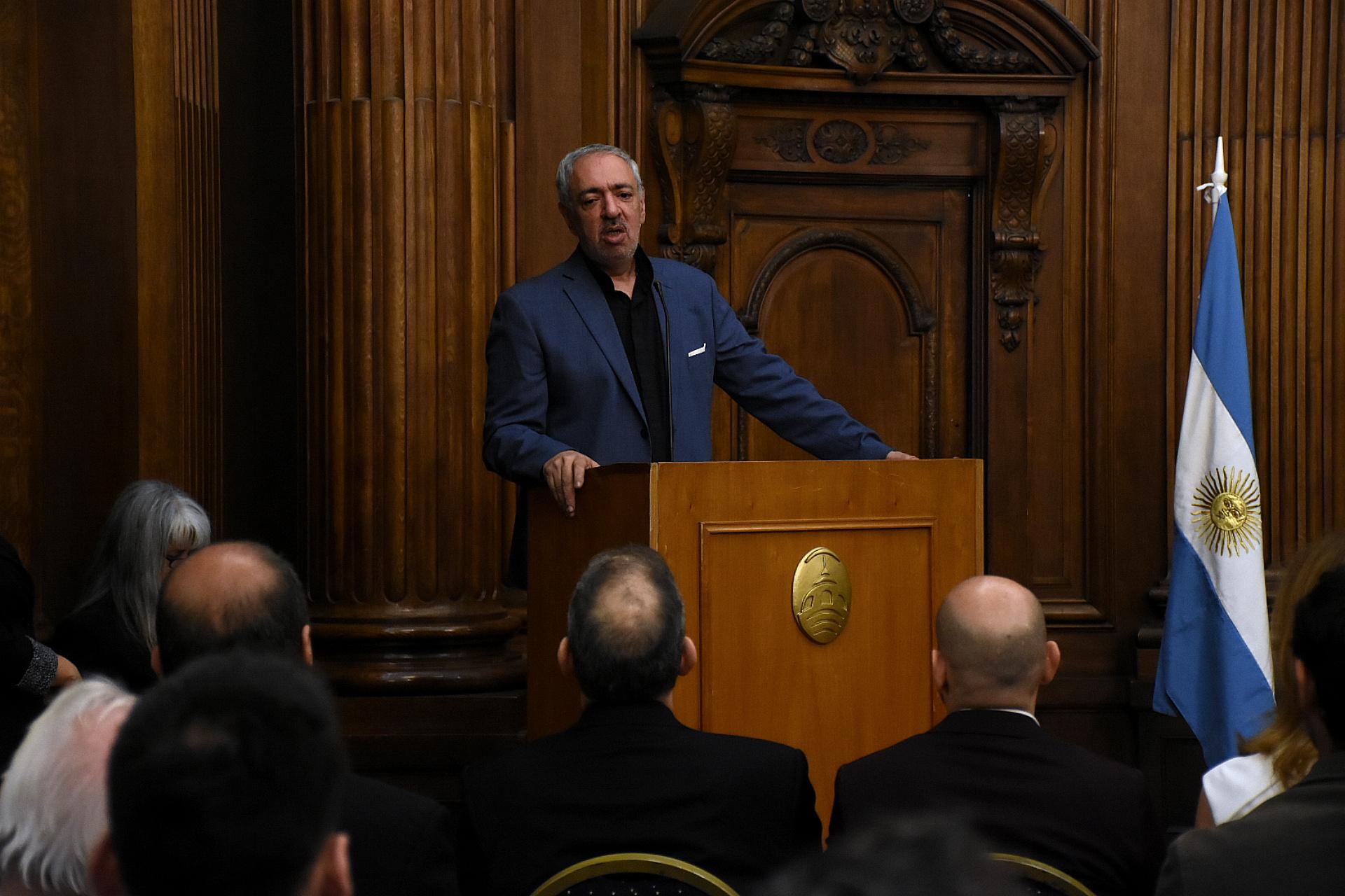 El diputado porteño del PRO Omar Abboud preside el Instituto del Diálogo Interreligioso. En su discurso expresó: