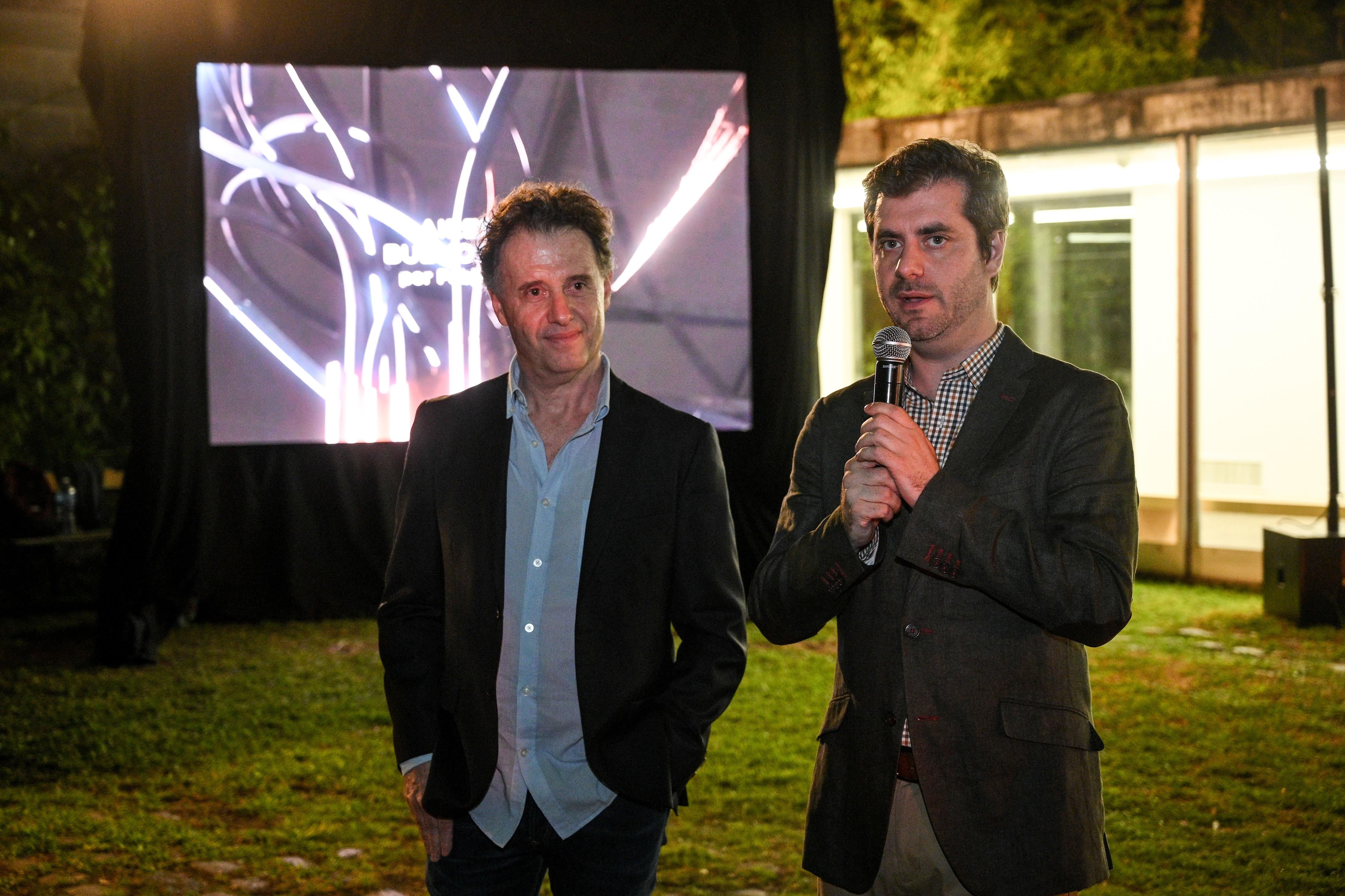 Pablo Reinoso y Juan Pablo Vacas, subsecretario de Espacio Público