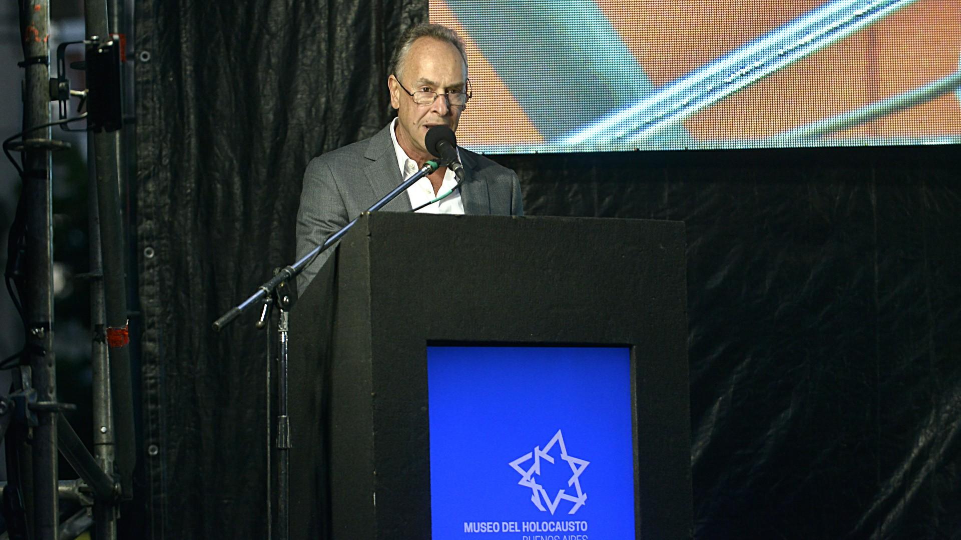 Marcelo Mindlin, titular de la Fundación del Museo del Holocausto, agradeció por el apoyo económico y personal que implicó la reinauguración tras dos años de intenso trabajo