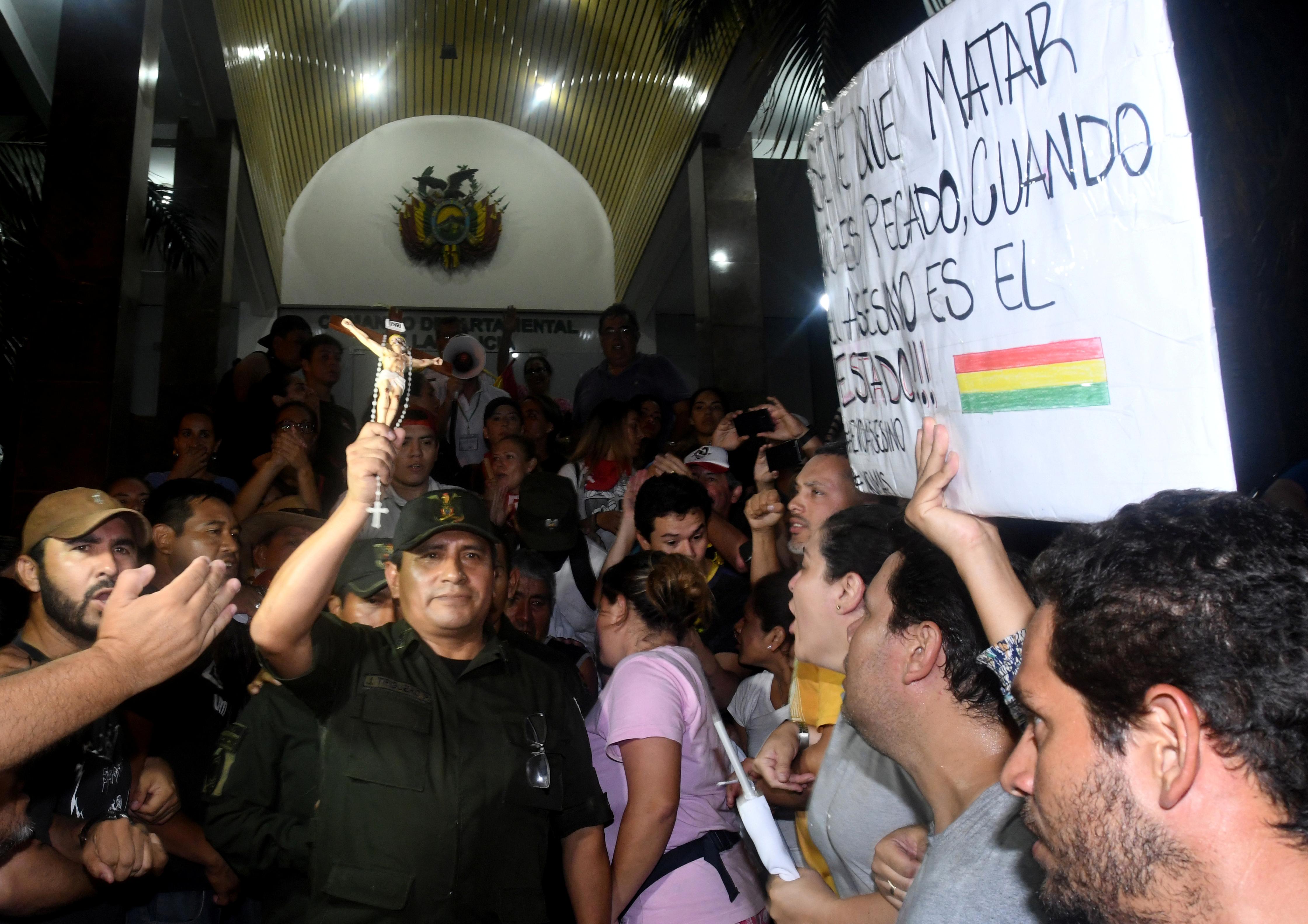 Manifestaciones en Santa Cruz de la Sierra.