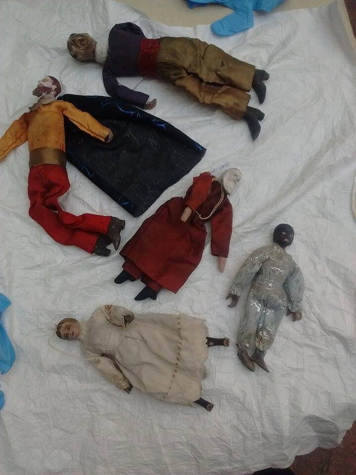 Algunas de las 33 marionetas se encuentran en el museo de la ciudad en Celaya (Foto: Twitter@museodecelaya)
